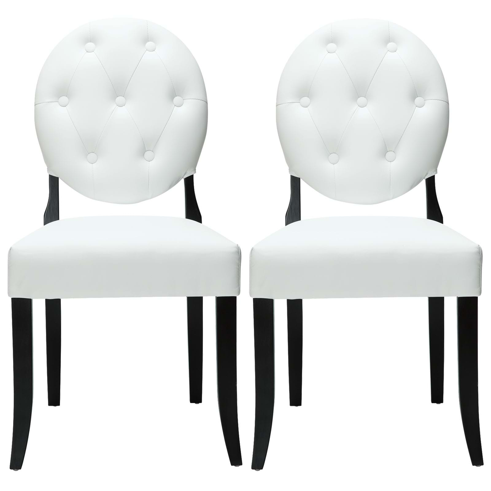 Modterior :: Dining Room :: Dining Sets :: Button Dining Chairs Set of 2