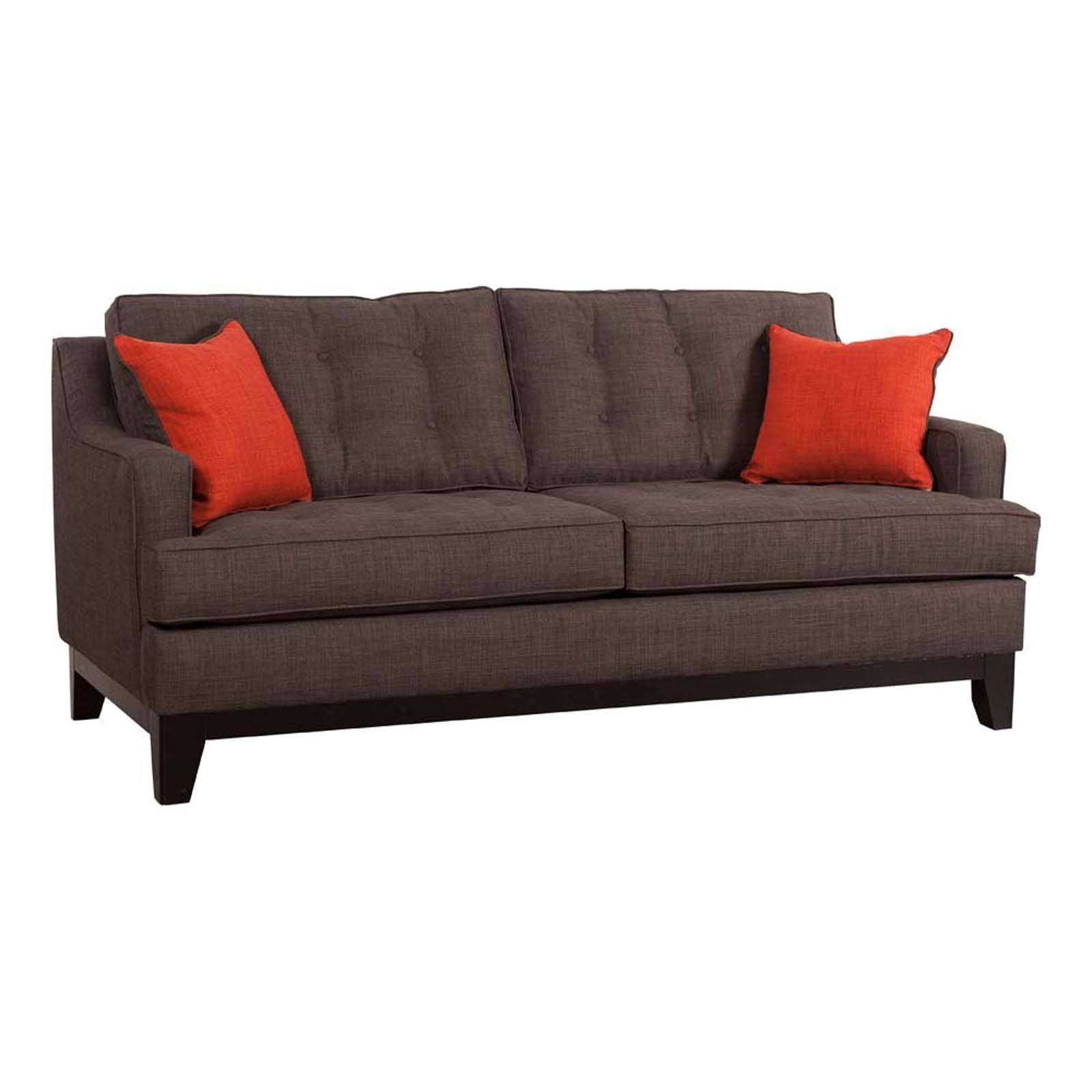Chicago sofa charcoal burnt orange for Charcoal sofa