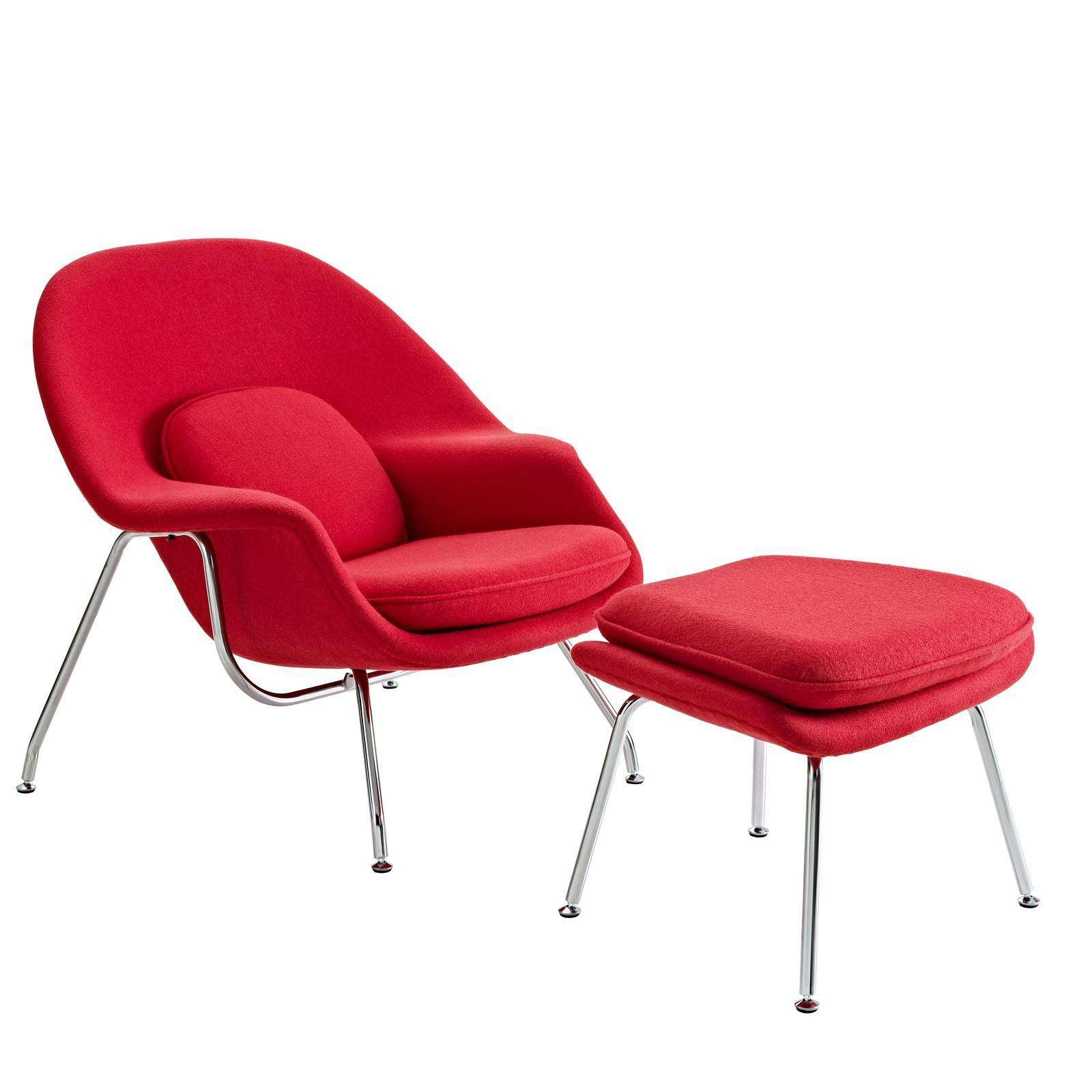 Womb chair saarinen lounge ottoman modterior - Saarinen womb chair reproduction ...