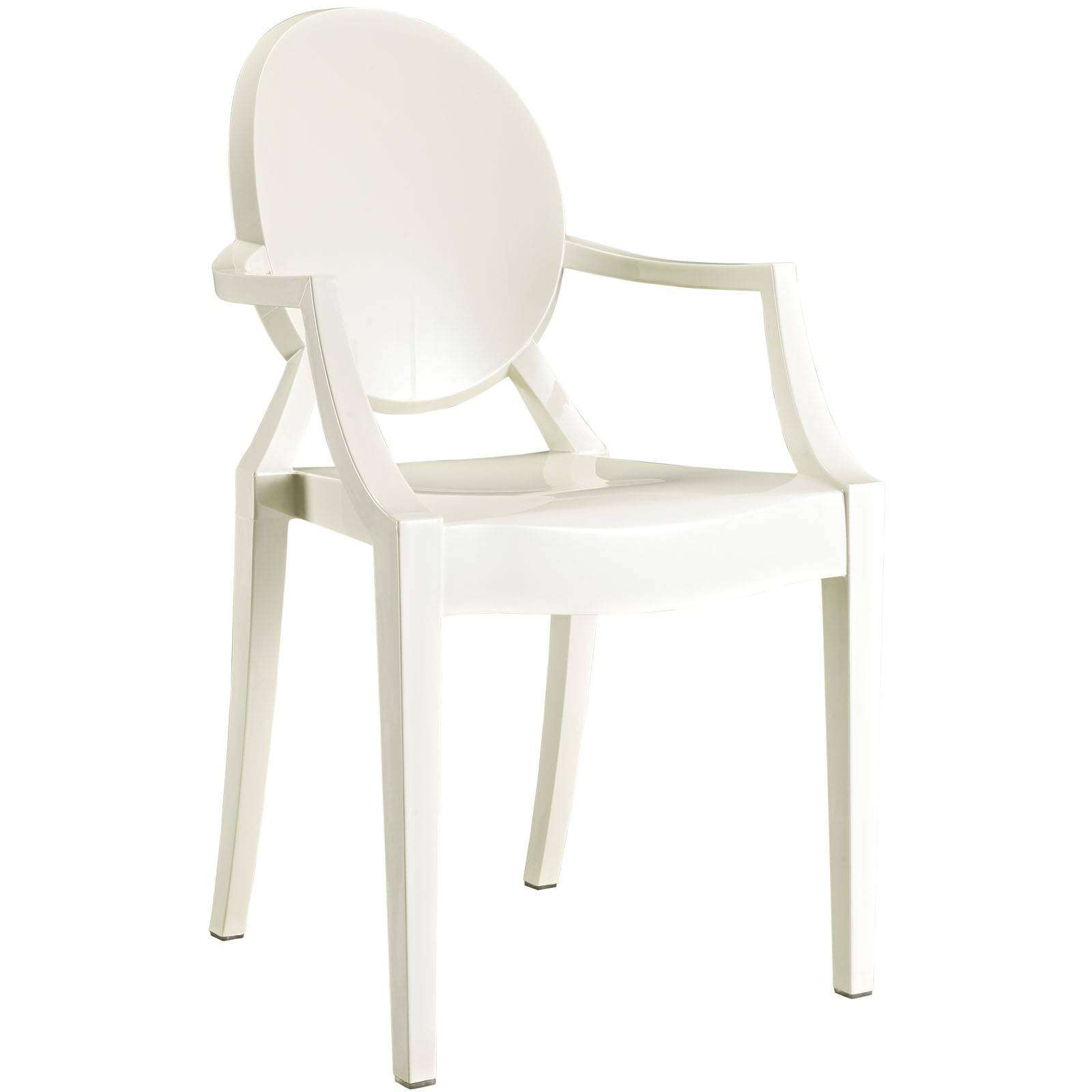 Bien-aimé Philippe Starck Style Louis Ghost Arm Chair EO96
