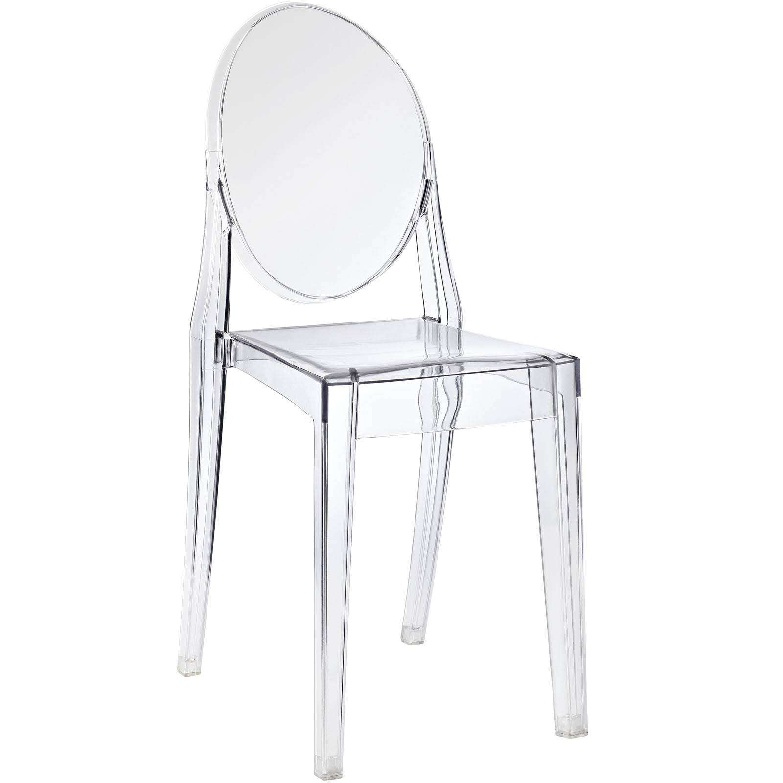 philippe starck style victoria ghost side chair. Black Bedroom Furniture Sets. Home Design Ideas