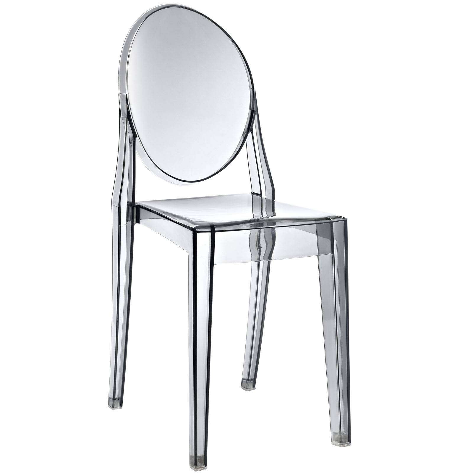 Philippe starck style victoria ghost side chair for Chaise ghost starck
