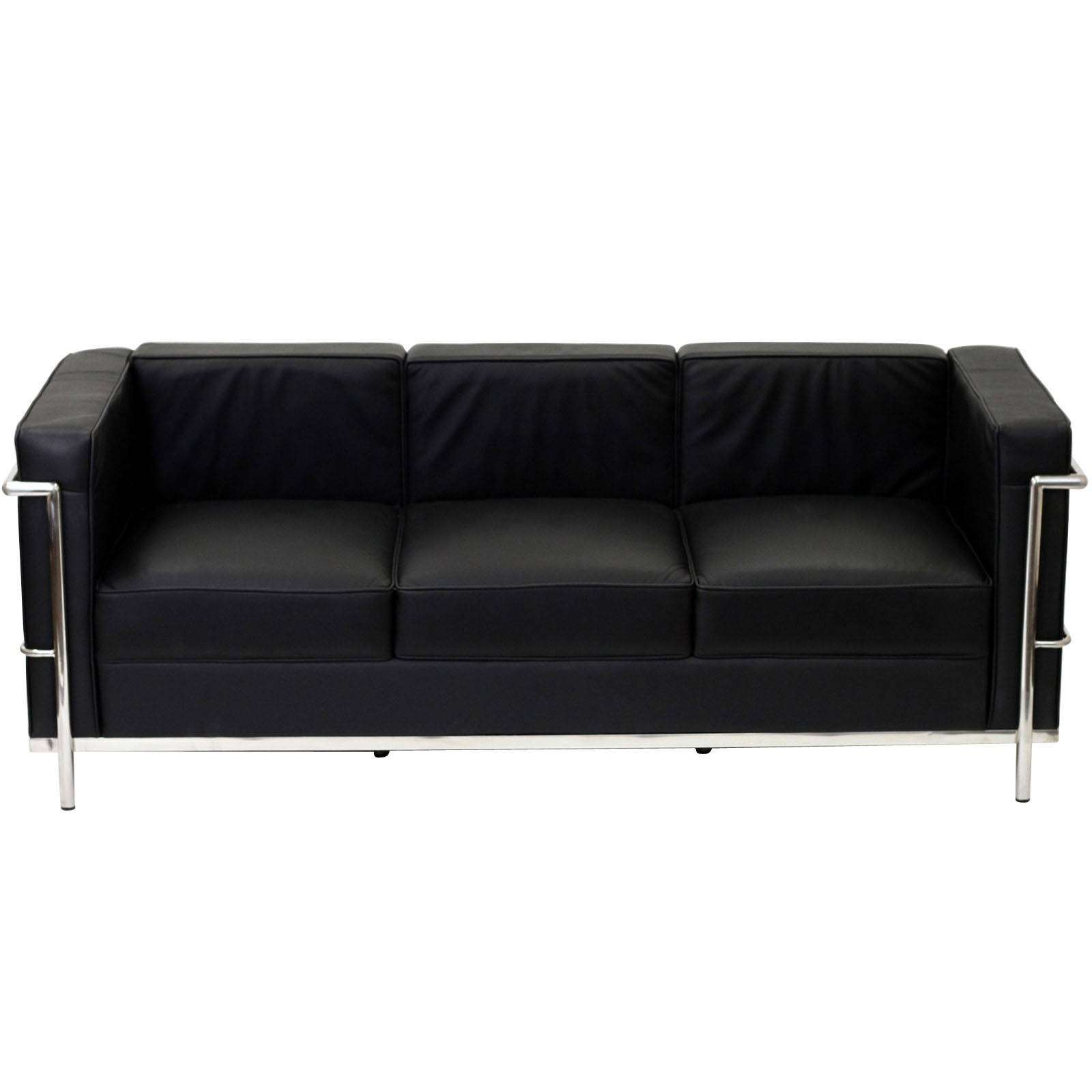 Le corbusier style lc2 sofa leather for Le corbusier sofa nachbau