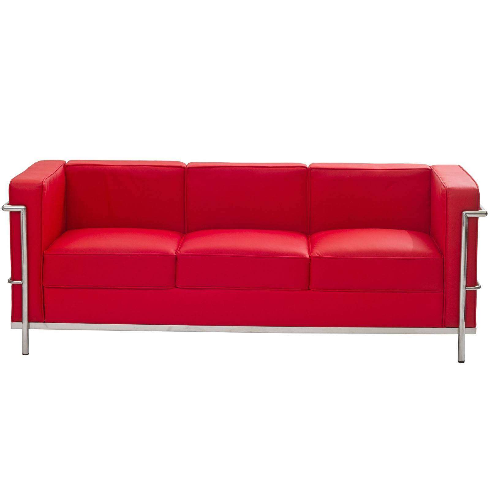 Le corbusier style lc2 sofa leather for Le corbusier sofa