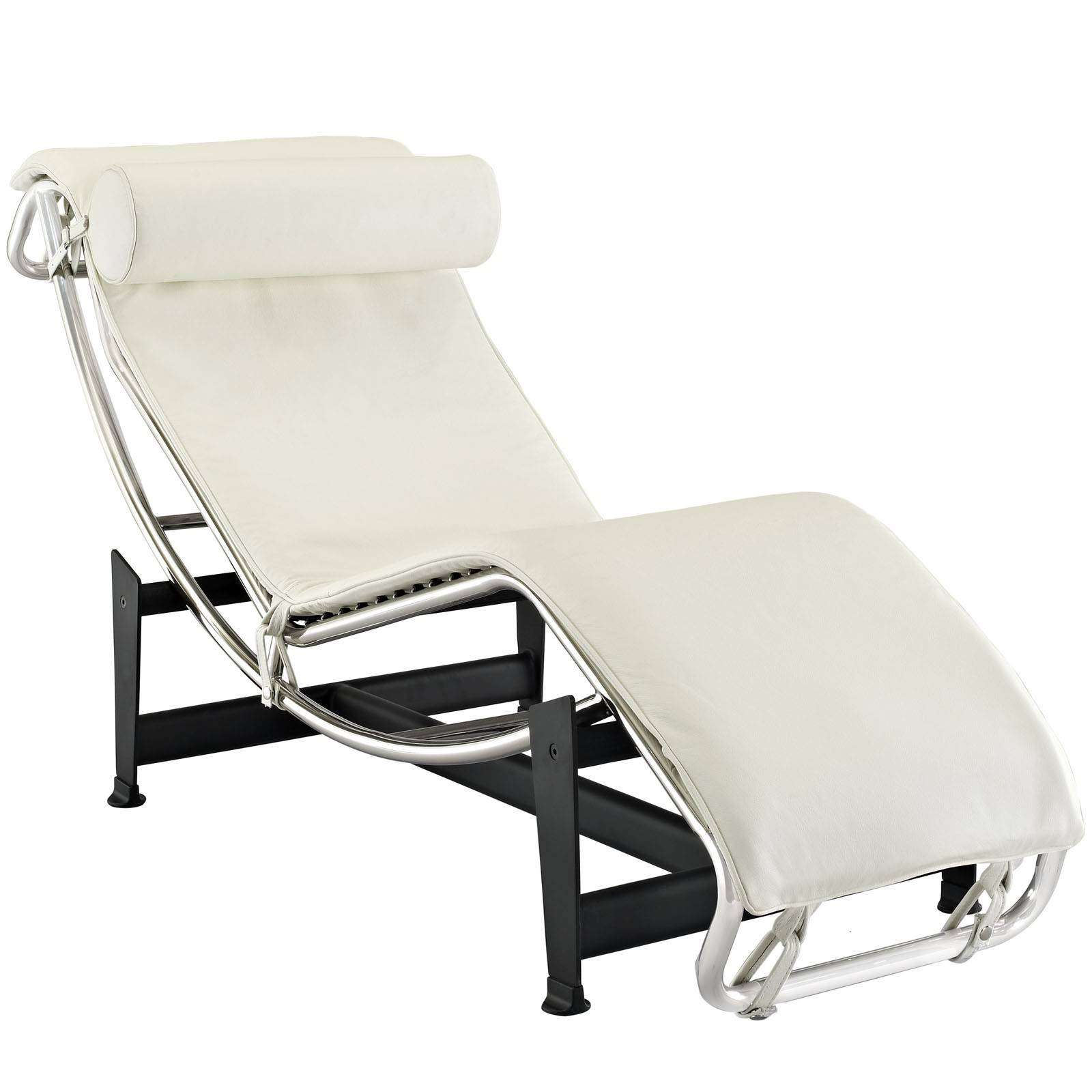 Le Corbusier Style Lc Chaise Lounge Chair Leather