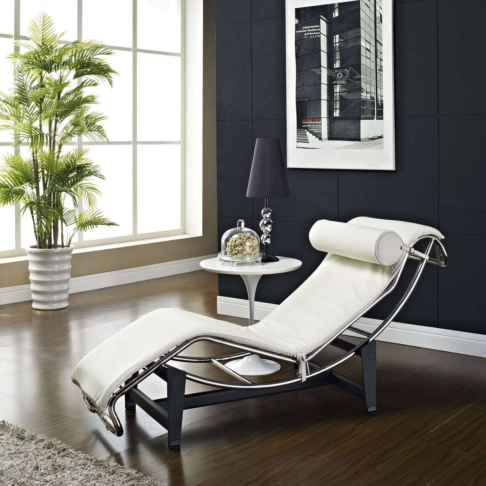 le corbusier style lc4 chaise lounge chair leather. Black Bedroom Furniture Sets. Home Design Ideas