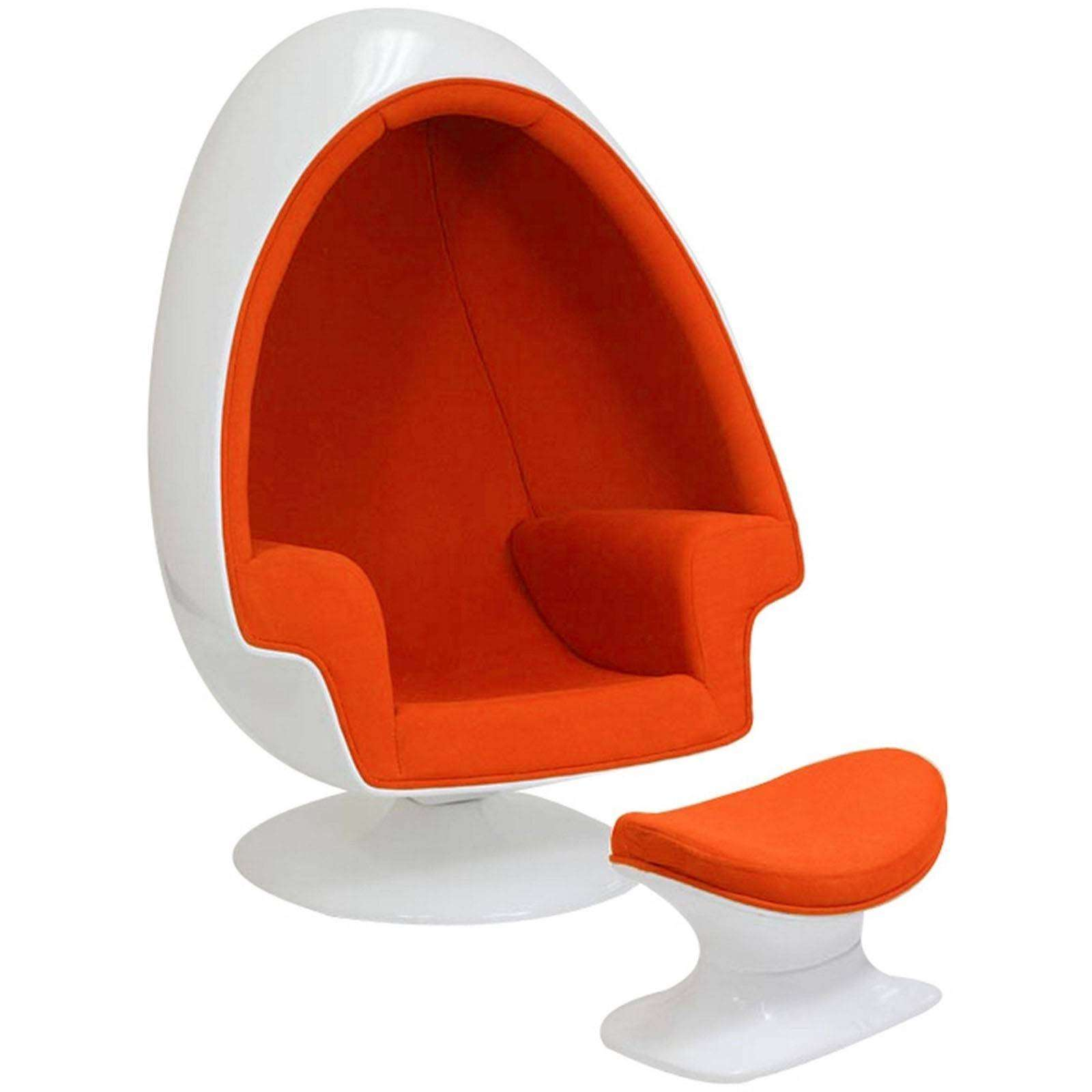 eero aarnio alpha shell egg chair ottoman. Black Bedroom Furniture Sets. Home Design Ideas
