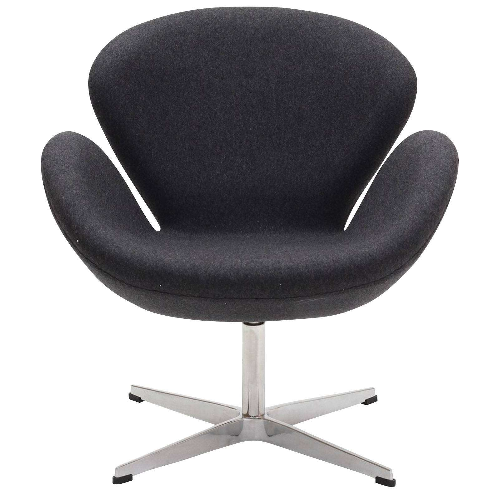 arne jacobsen swan chair wool. Black Bedroom Furniture Sets. Home Design Ideas