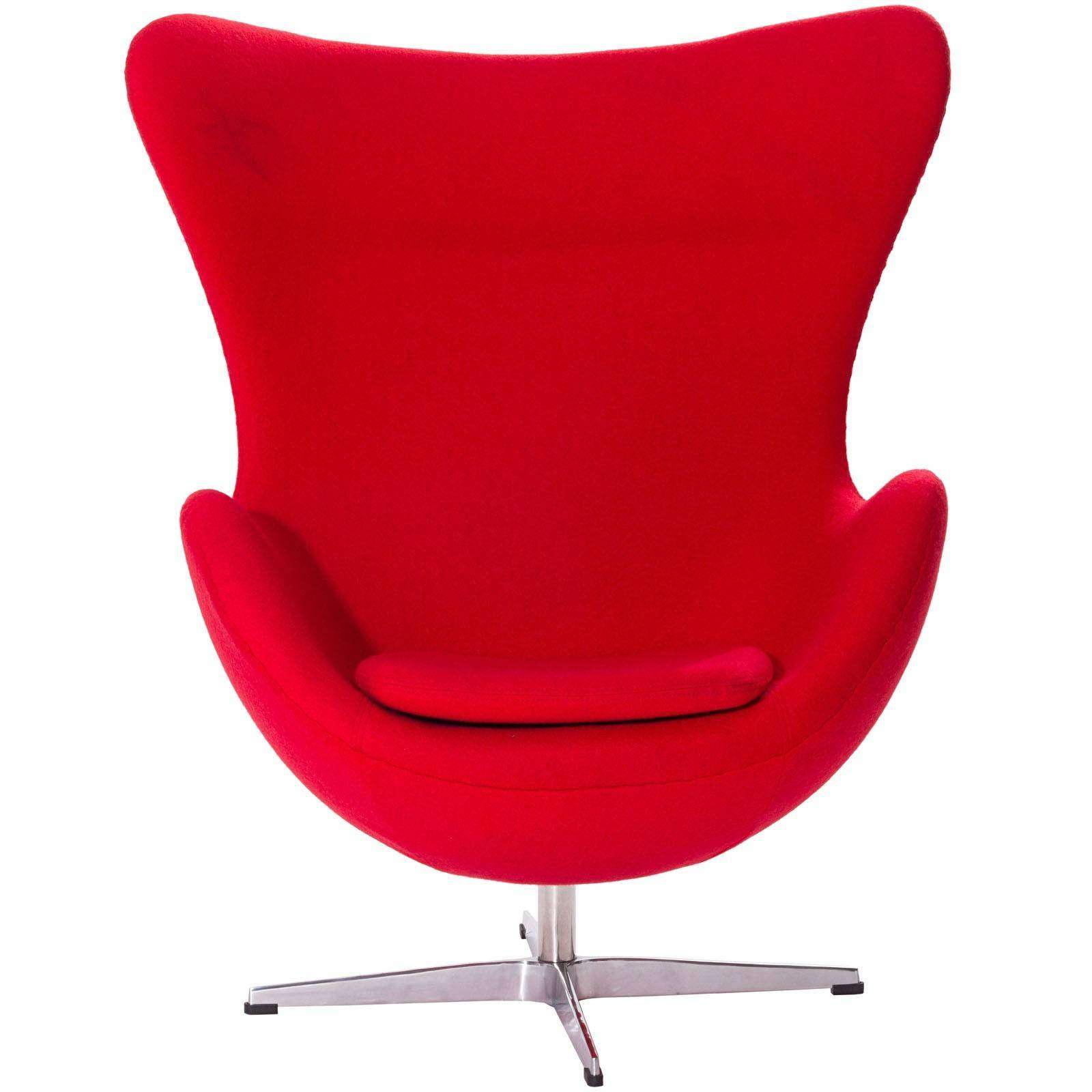 Arne jacobsen egg chair white - Arne Jacobsen Style Egg Chair Wool