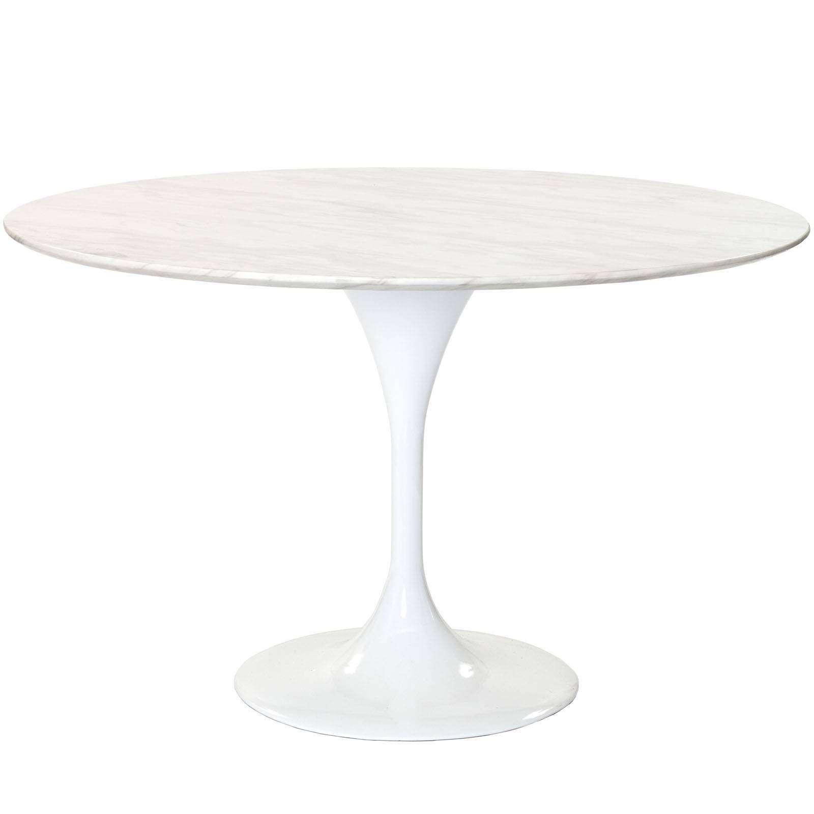 Eero Saarinen Style Tulip Table Marble 48quot : EEI 143 WHI1 from www.modterior.com size 1600 x 1600 jpeg 103kB