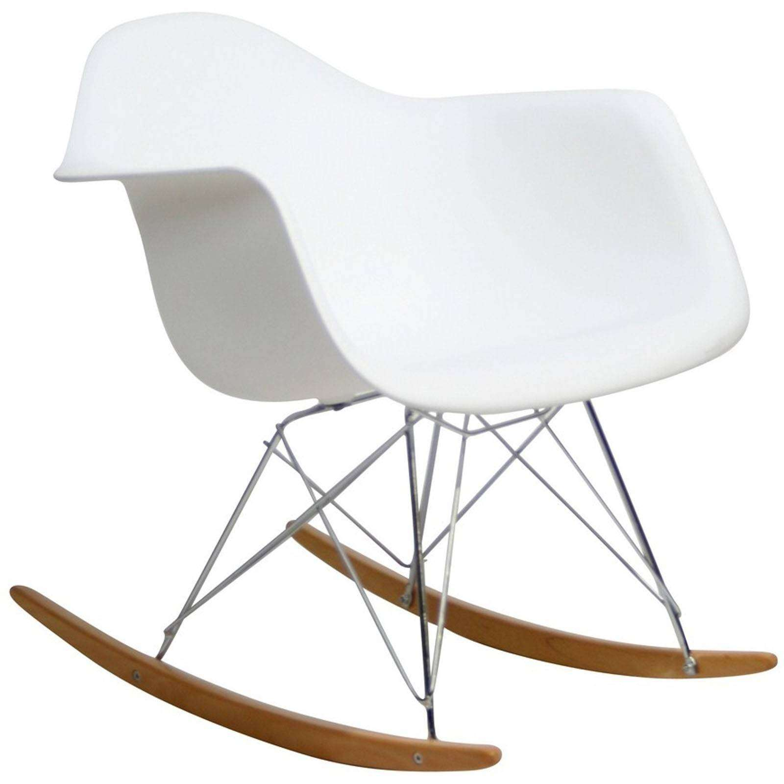 Classic rocking lounge chair for Chaise a bascule style eames