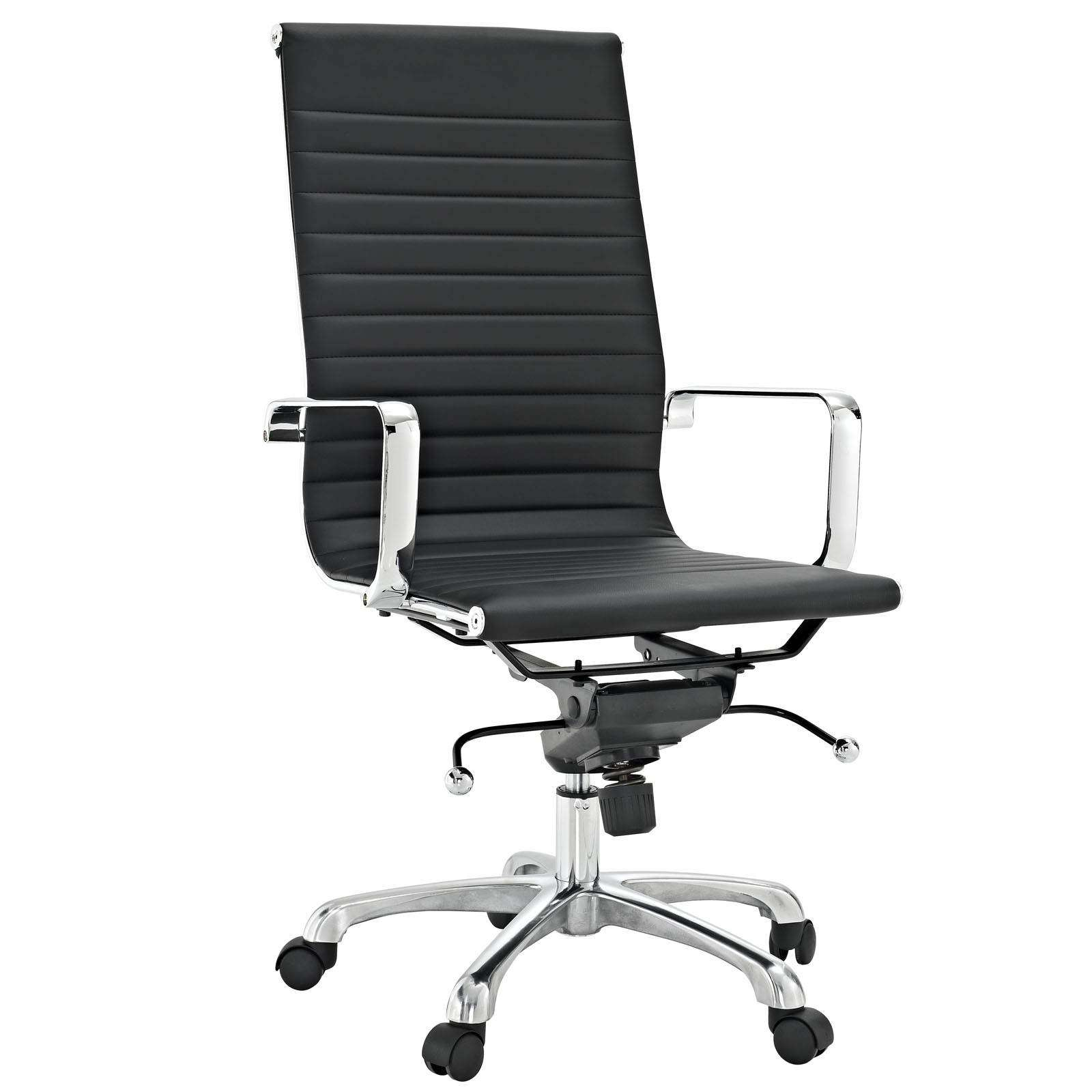 Classic Ribbed High Back Office Chair