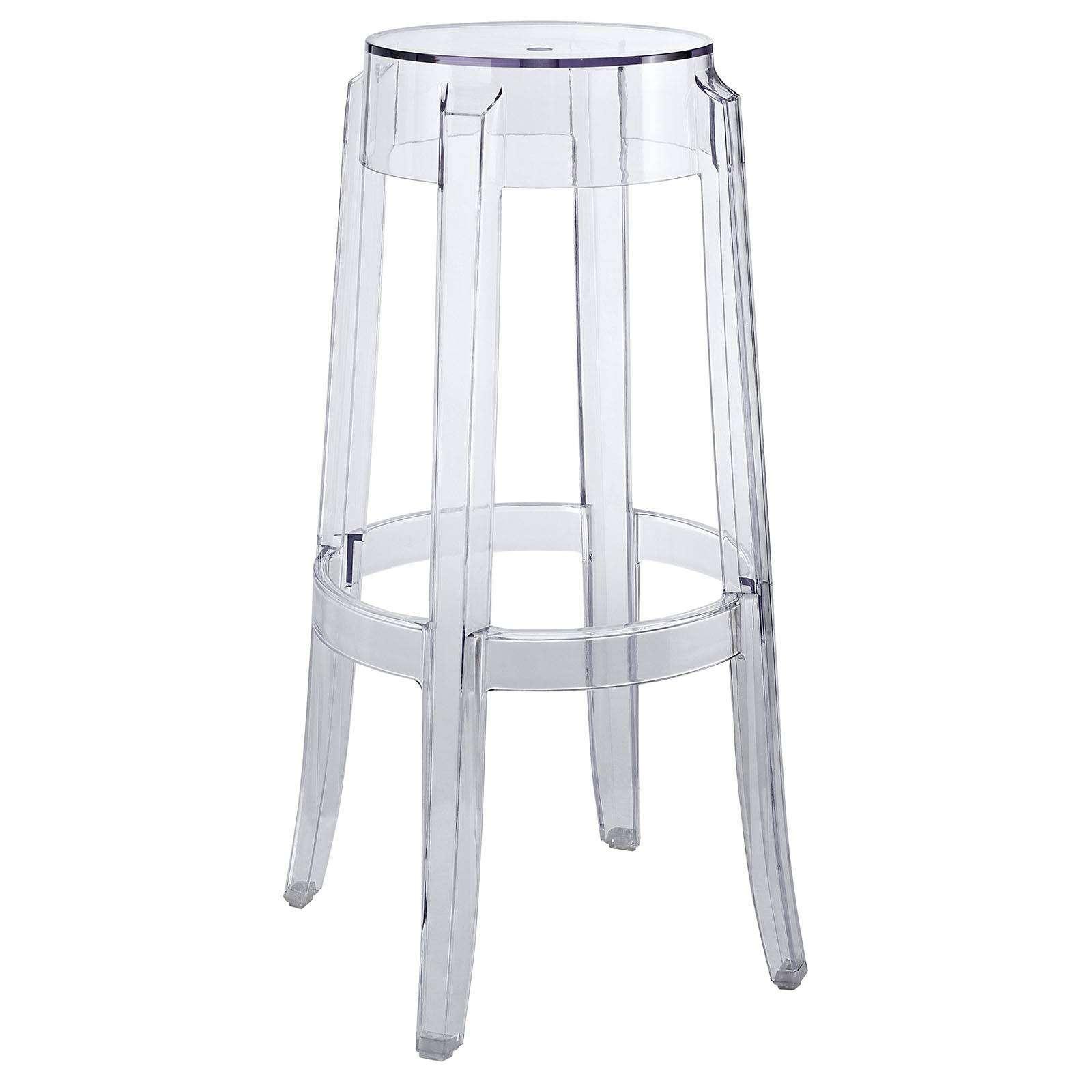 Philippe starck style charles ghost bar stool for Philip starck stoel
