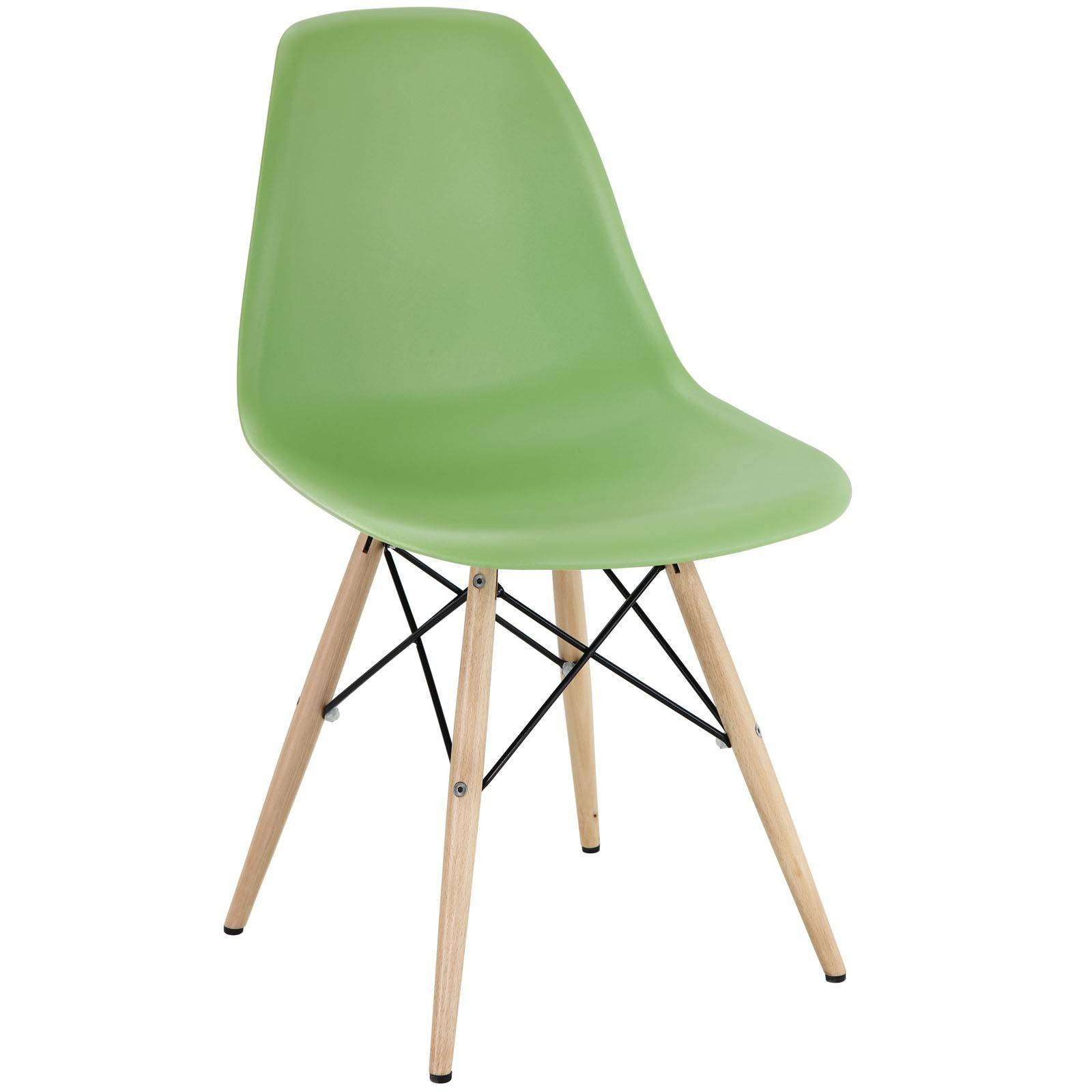 Pyramid Dining Side Chair Wood Base Dowel Legs