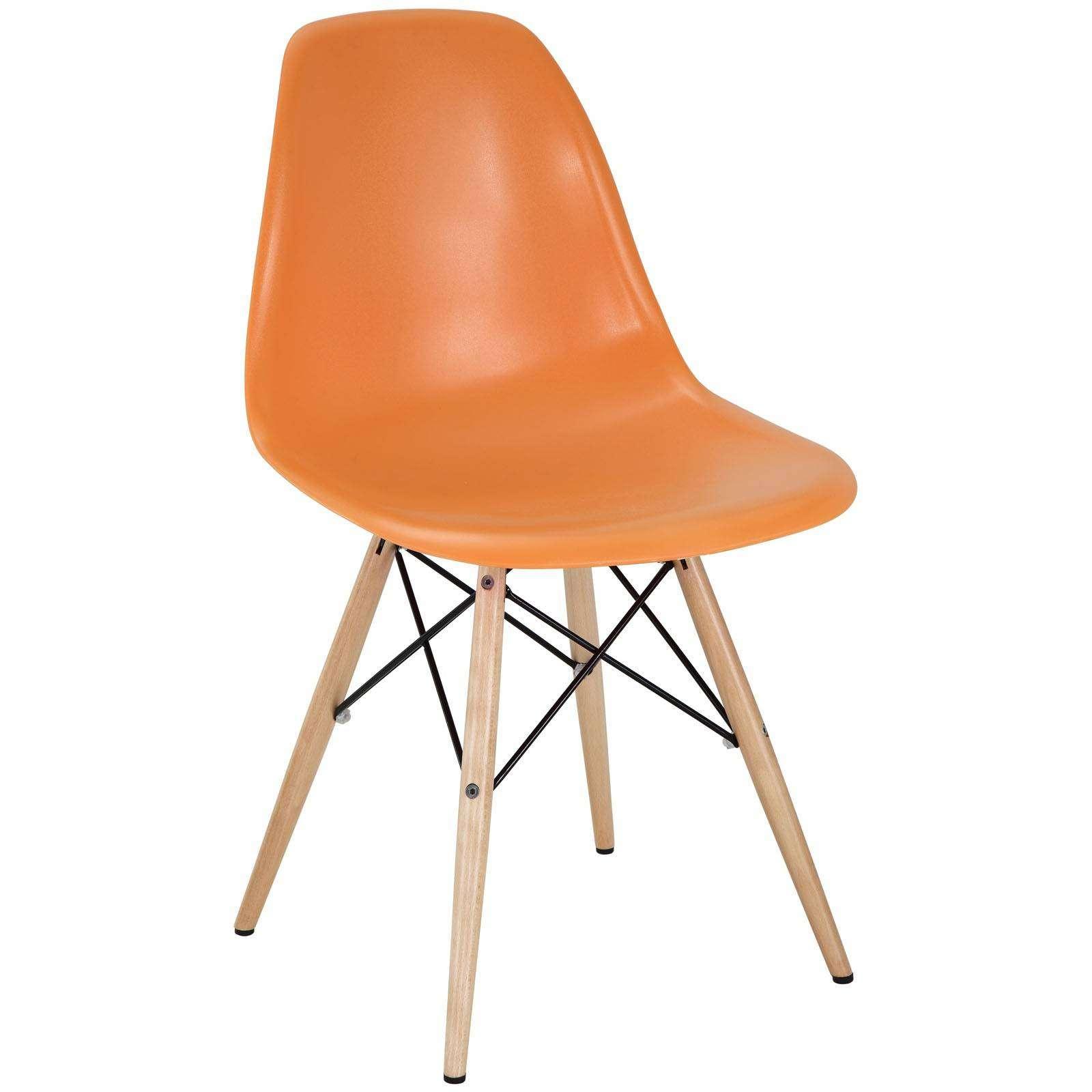 Wood Base Chairs ~ Pyramid dining side chair wood base dowel legs