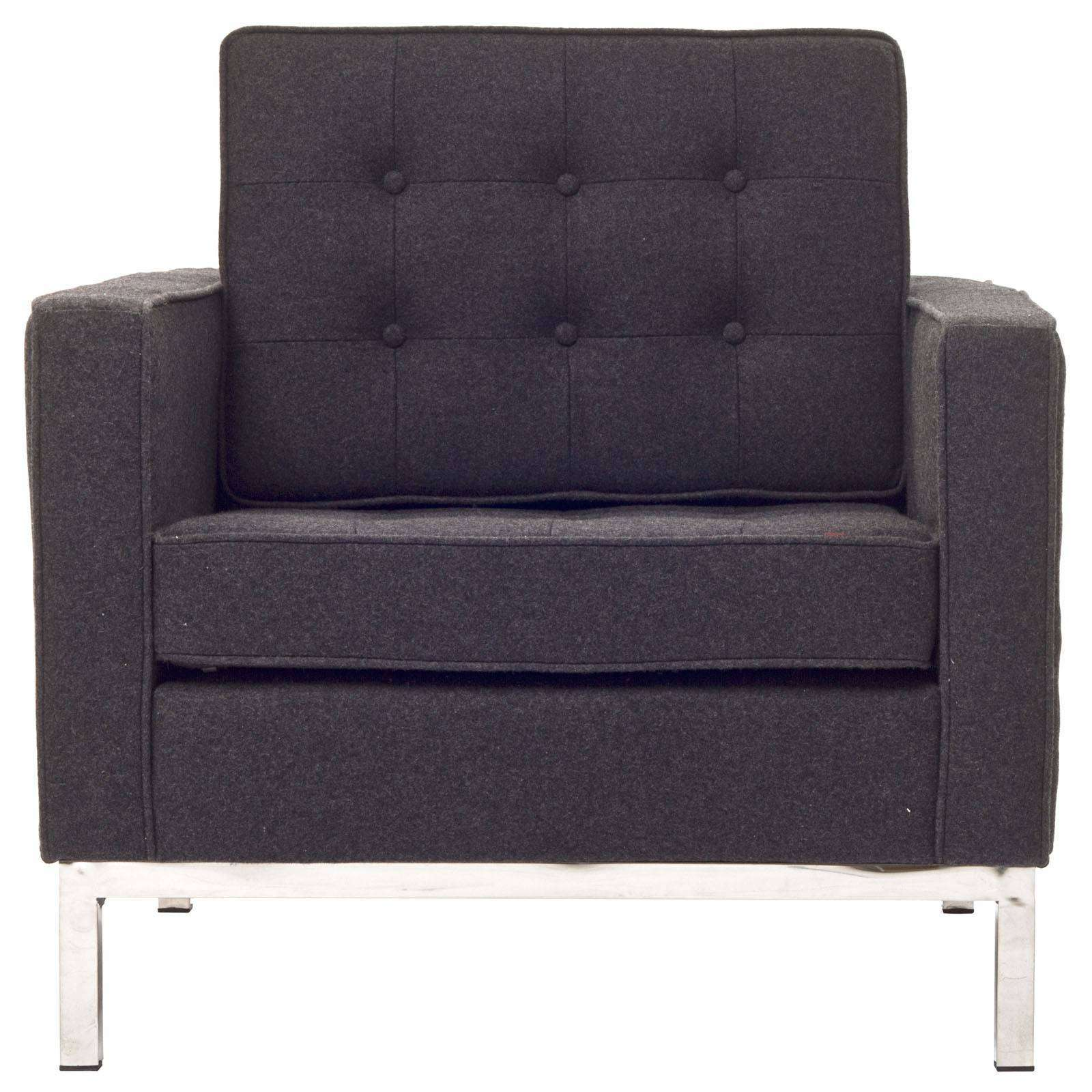 Knoll Style Arm Chair Wool
