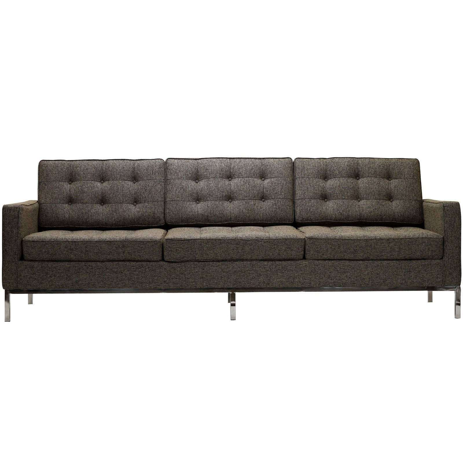 florence knoll style sofa couch wool. Black Bedroom Furniture Sets. Home Design Ideas