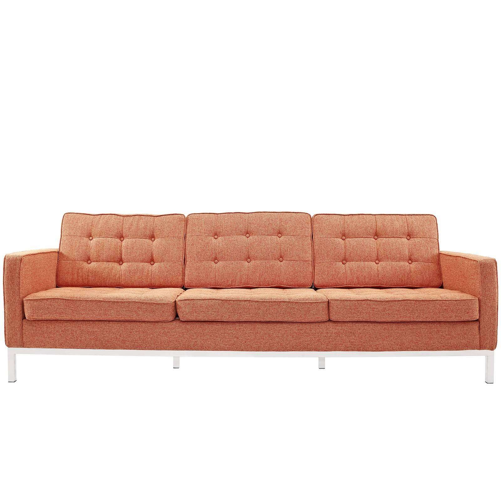 Florence Knoll Style Sofa Couch Wool