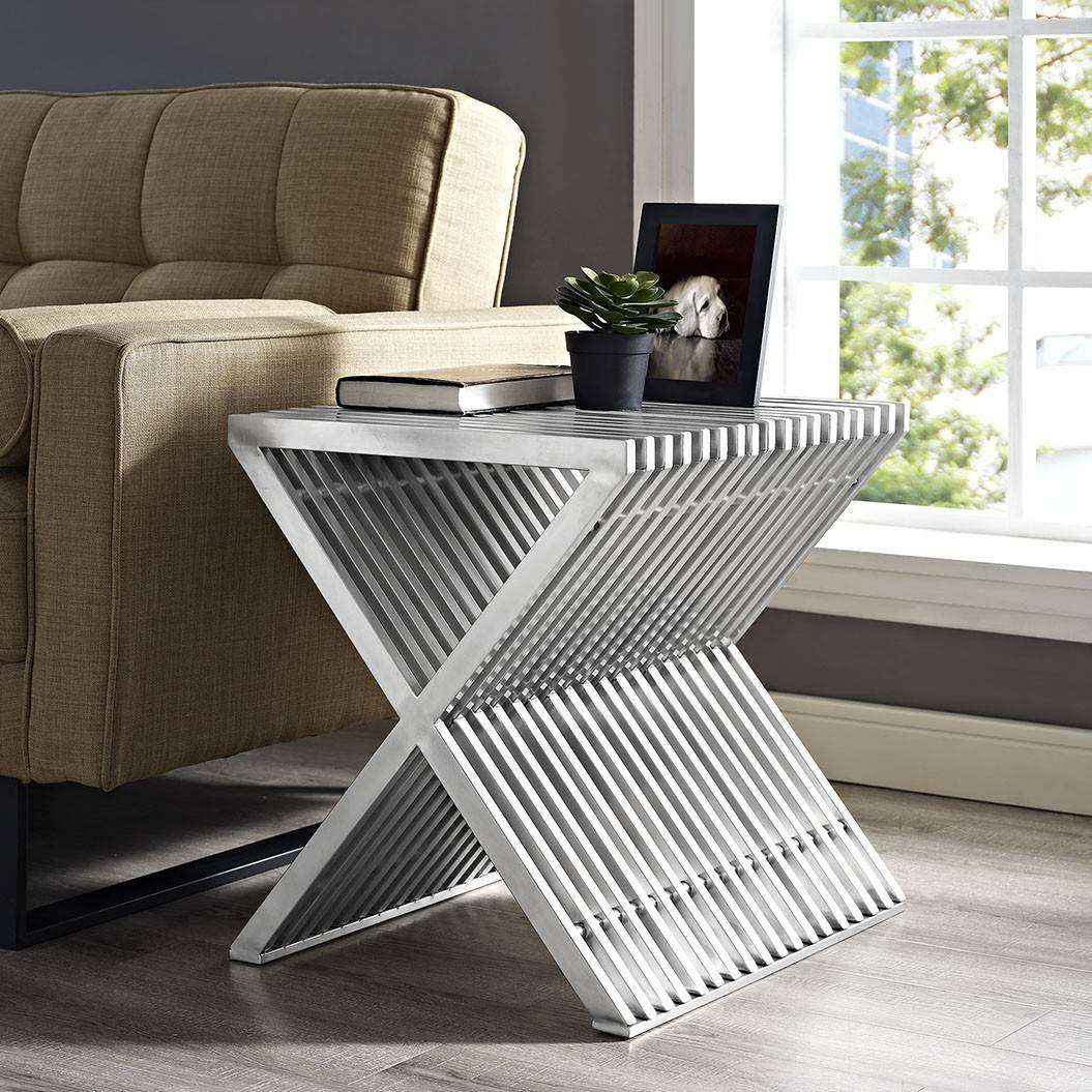 Modterior Living Room Side Tables Press Stainless