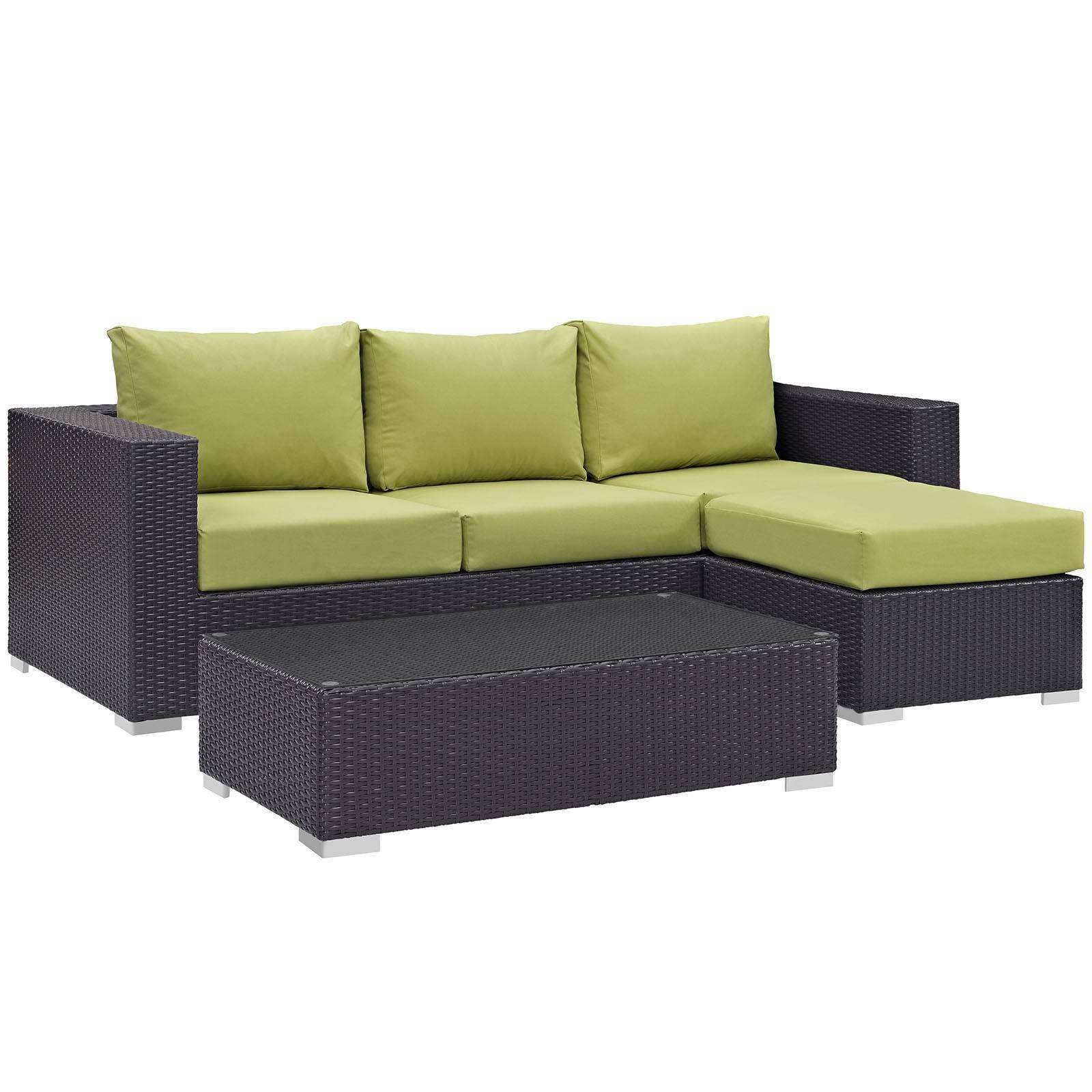 itm sofa s patio pe ebay aluminum furniture wicker outdoor brown set sectional rattan frame