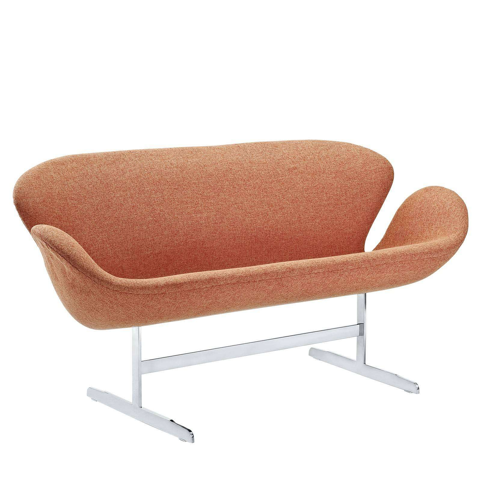 Jacobsen Style Swan Love Seat Couch Wool