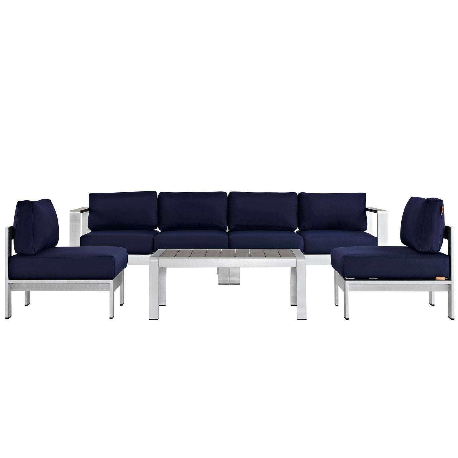 Modterior :: Outdoor :: Sectional Sets :: Shore 5 Piece ... on 5 Piece Sectional Patio Set id=94961