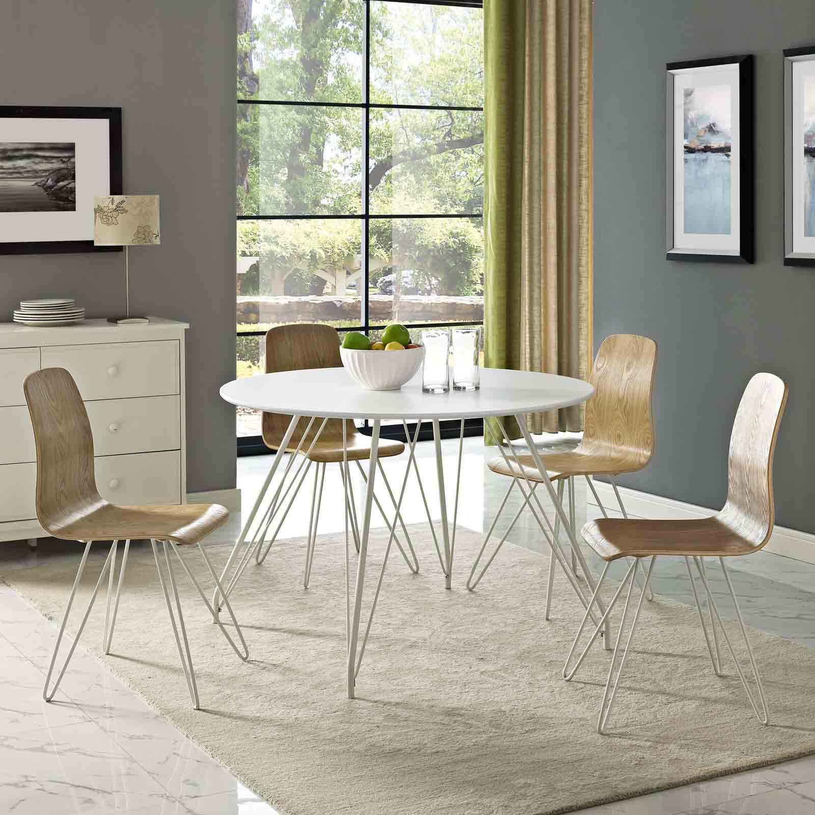 Modterior Dining Room Dining Tables Satellite Circular Dining Table In White
