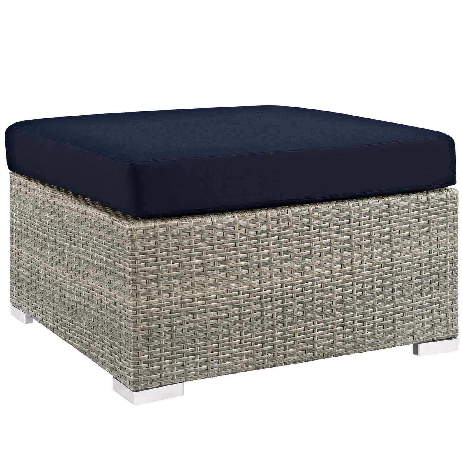 Modterior Outdoor Ottomans Repose Sunbrella
