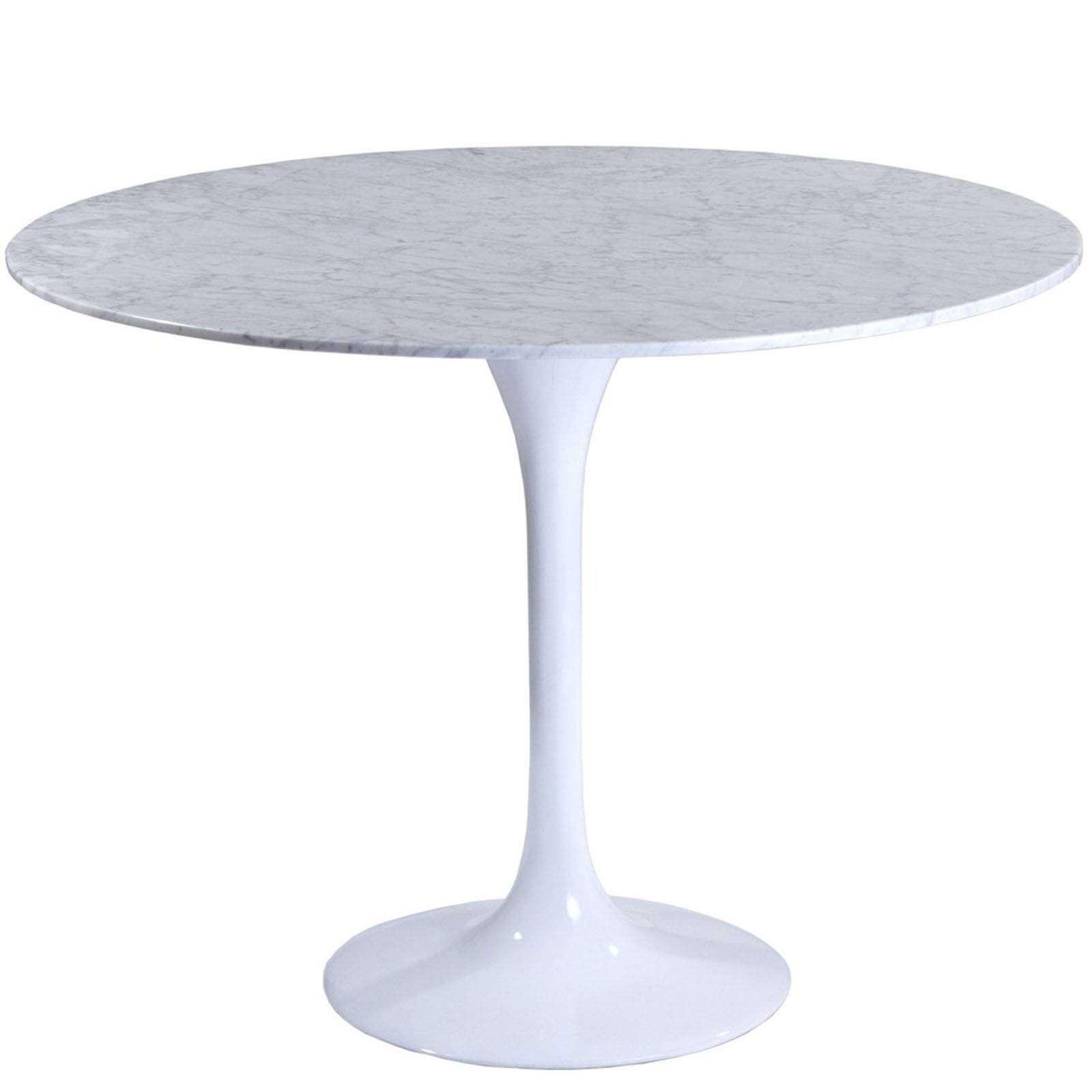 Eero saarinen style tulip table marble 36 for Tulip dining table