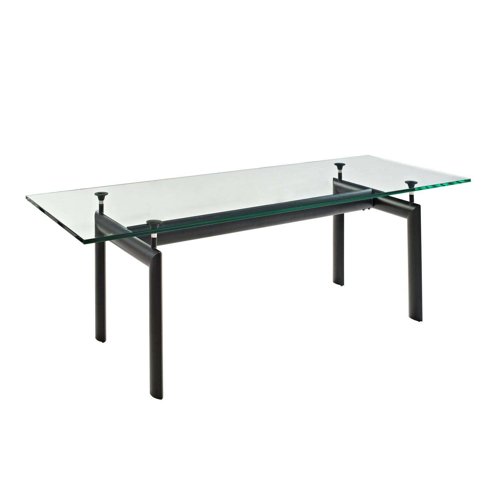 le corbusier style lc6 dining glass table. Black Bedroom Furniture Sets. Home Design Ideas