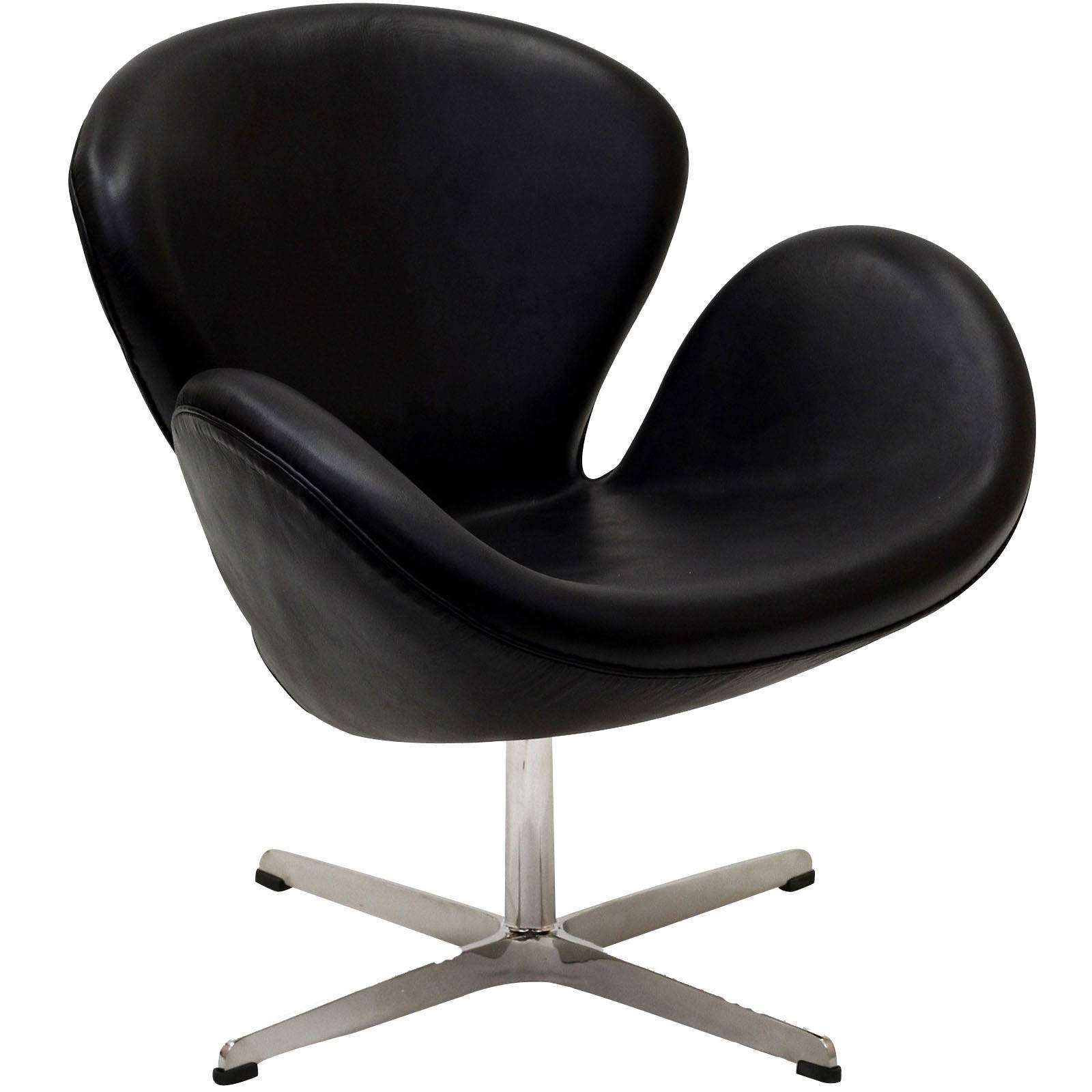Arne jacobsen swan chair leather for Swan chair nachbau
