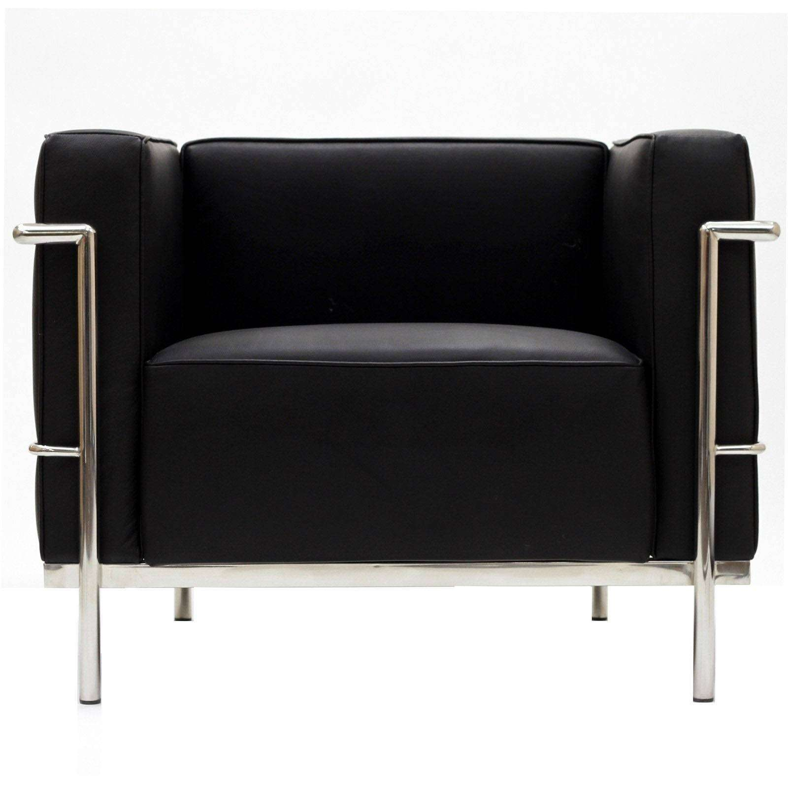 le corbusier style lc3 arm chair leather. Black Bedroom Furniture Sets. Home Design Ideas