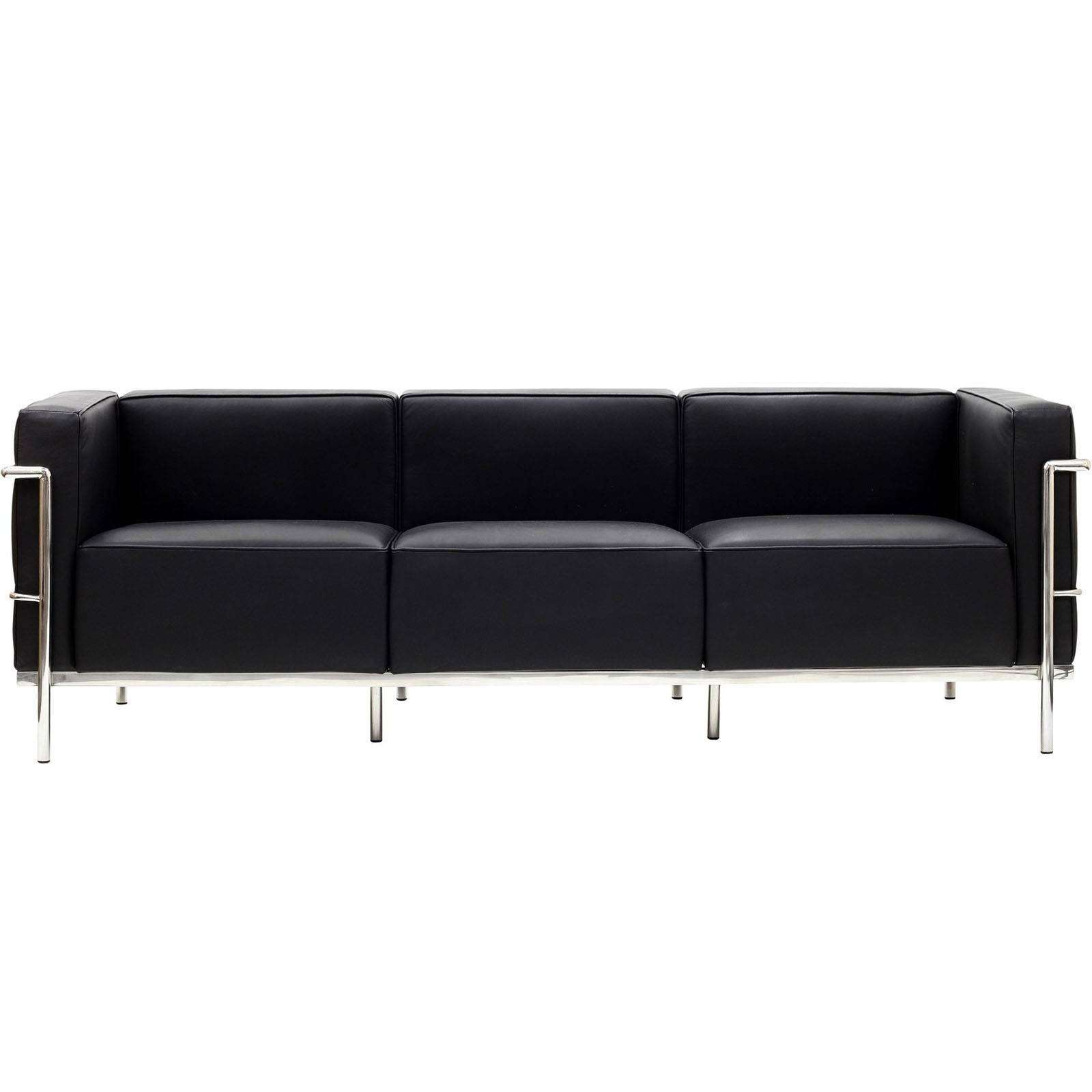 le corbusier style lc3 sofa leather. Black Bedroom Furniture Sets. Home Design Ideas