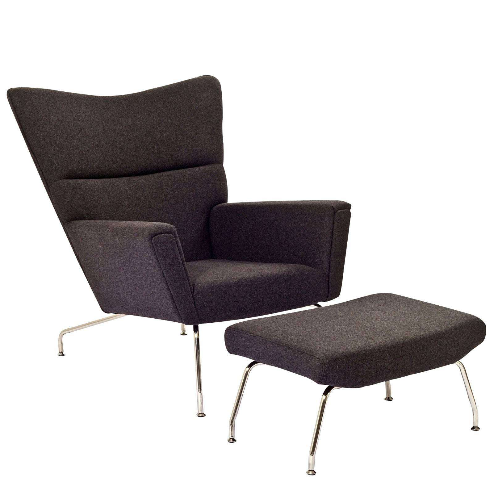 Hans Wegner CH445 Wing Lounge Chair Wool