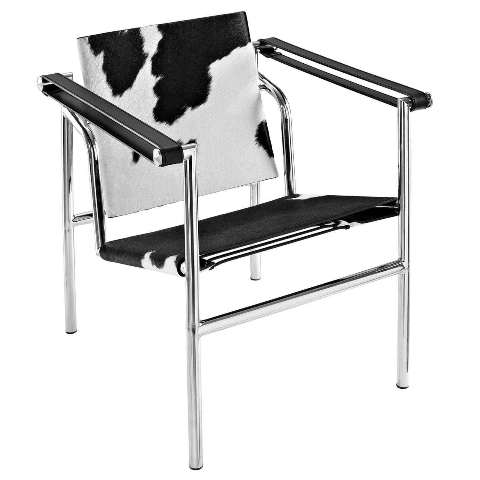 le corbusier style lc1 sling chair cowhide. Black Bedroom Furniture Sets. Home Design Ideas