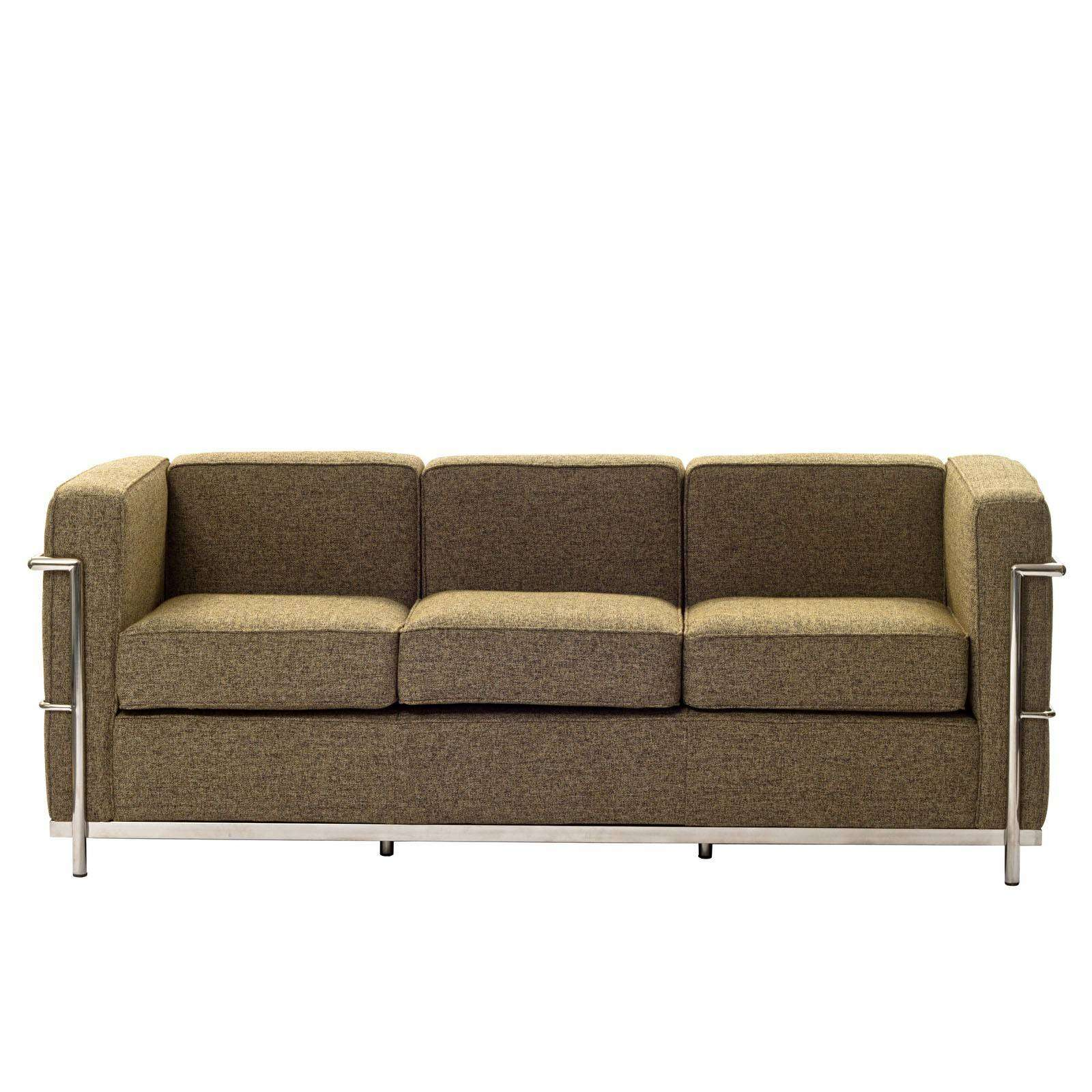 Le corbusier style lc2 sofa couch wool for Le corbusier sofa nachbau