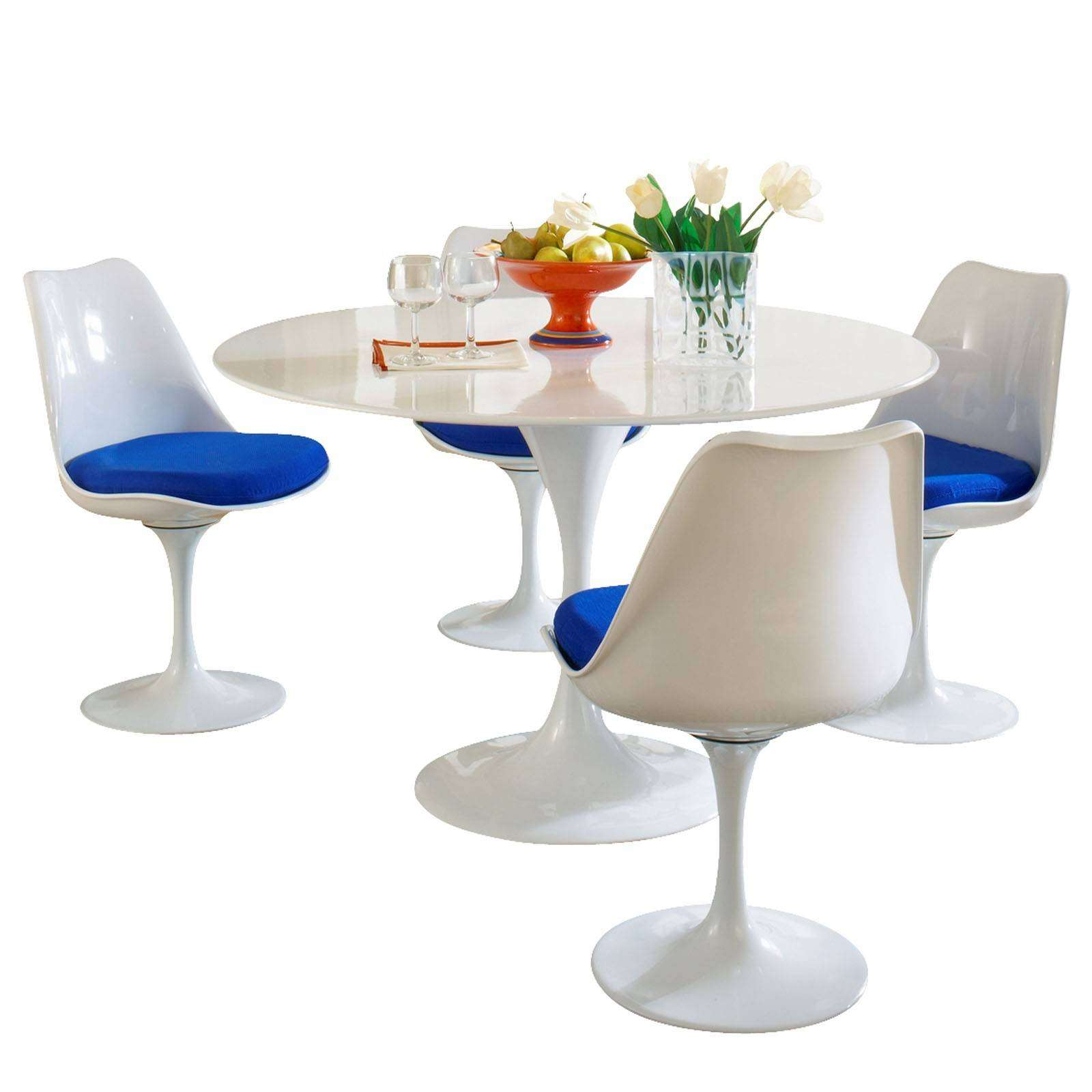 Eero saarinen style tulip dining set for Tulip dining table