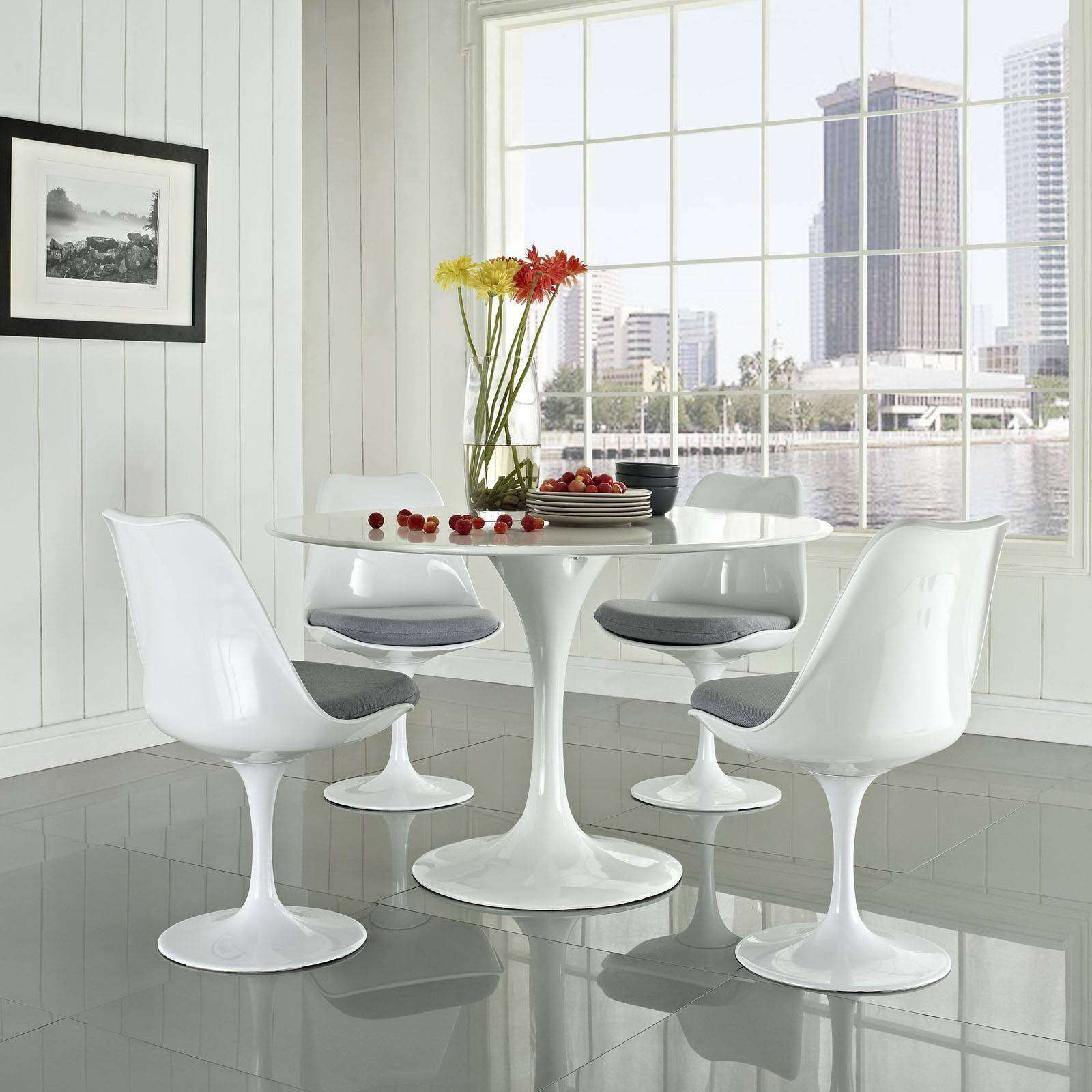 White Dining Chairs Upholstered