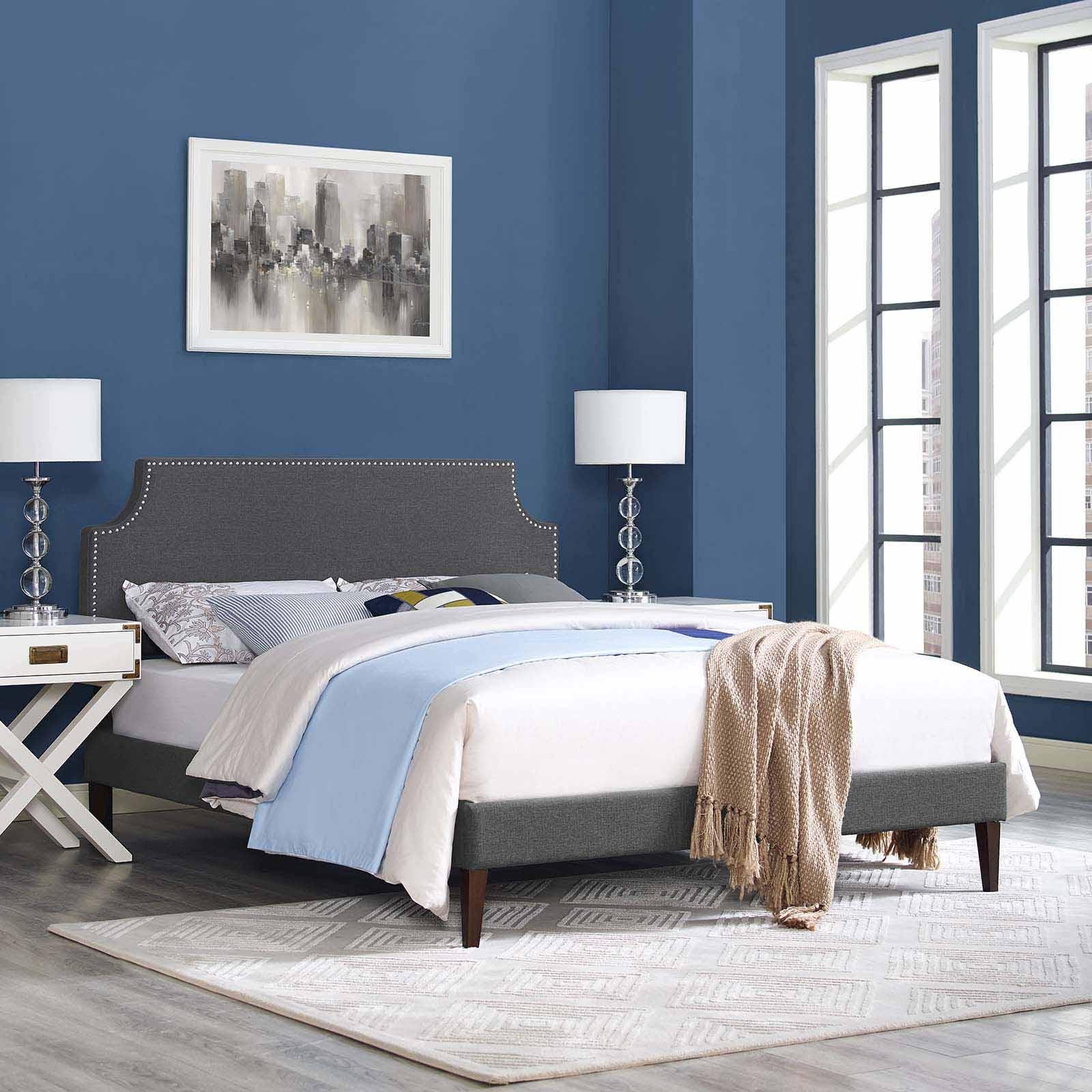 Modterior Bedroom Beds Corene King Fabric