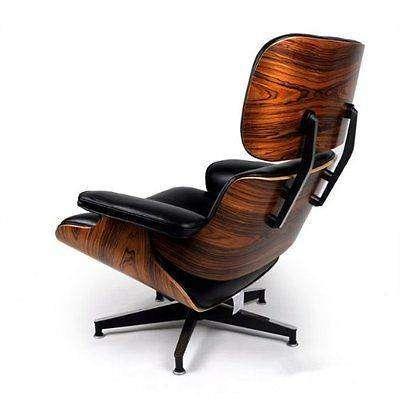 mod lounge chair ottoman black palisander. Black Bedroom Furniture Sets. Home Design Ideas