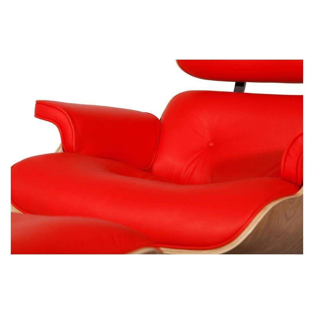 Mod Lounge Chair Amp Ottoman Red Walnut