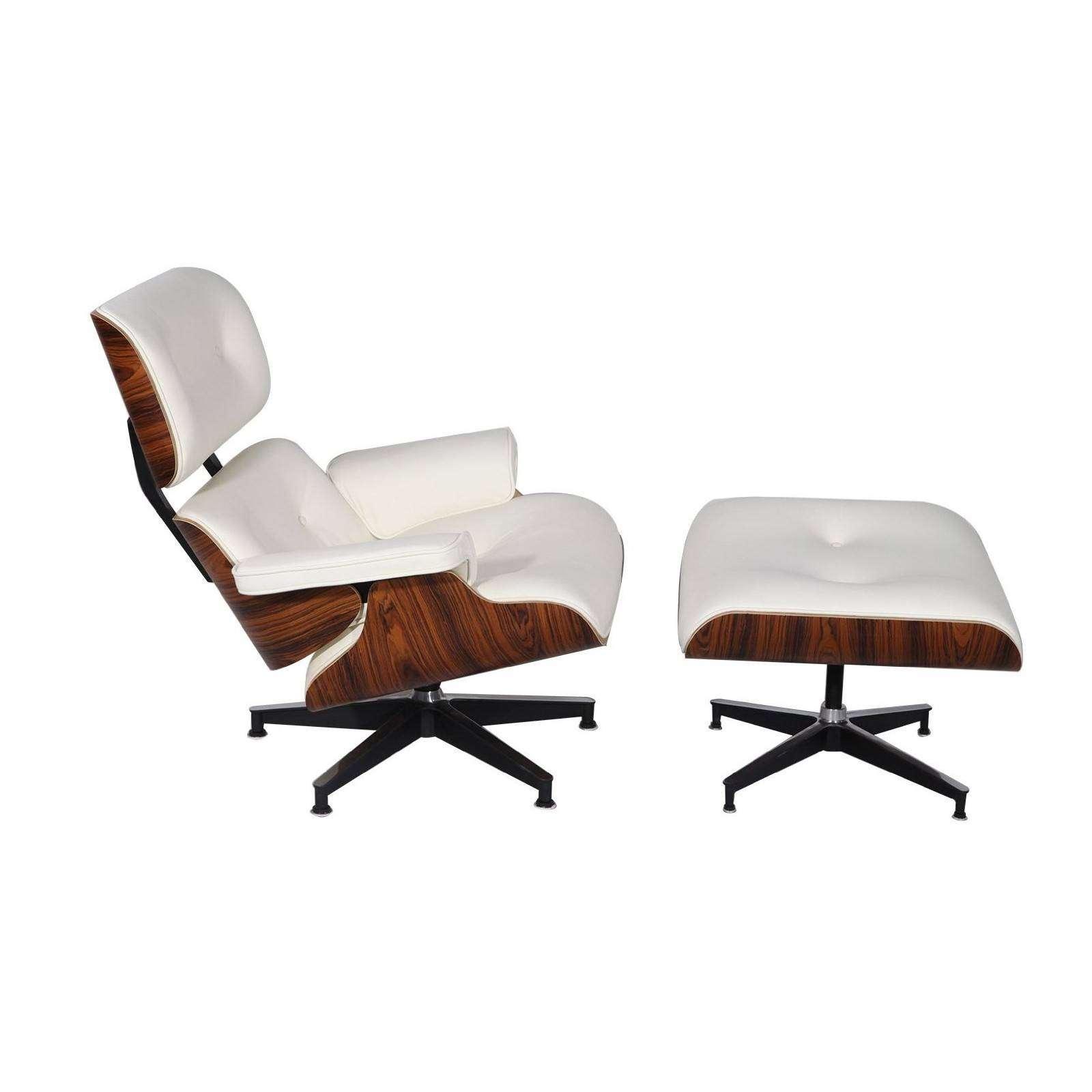 Mod Lounge Chair Amp Ottoman White Palisander