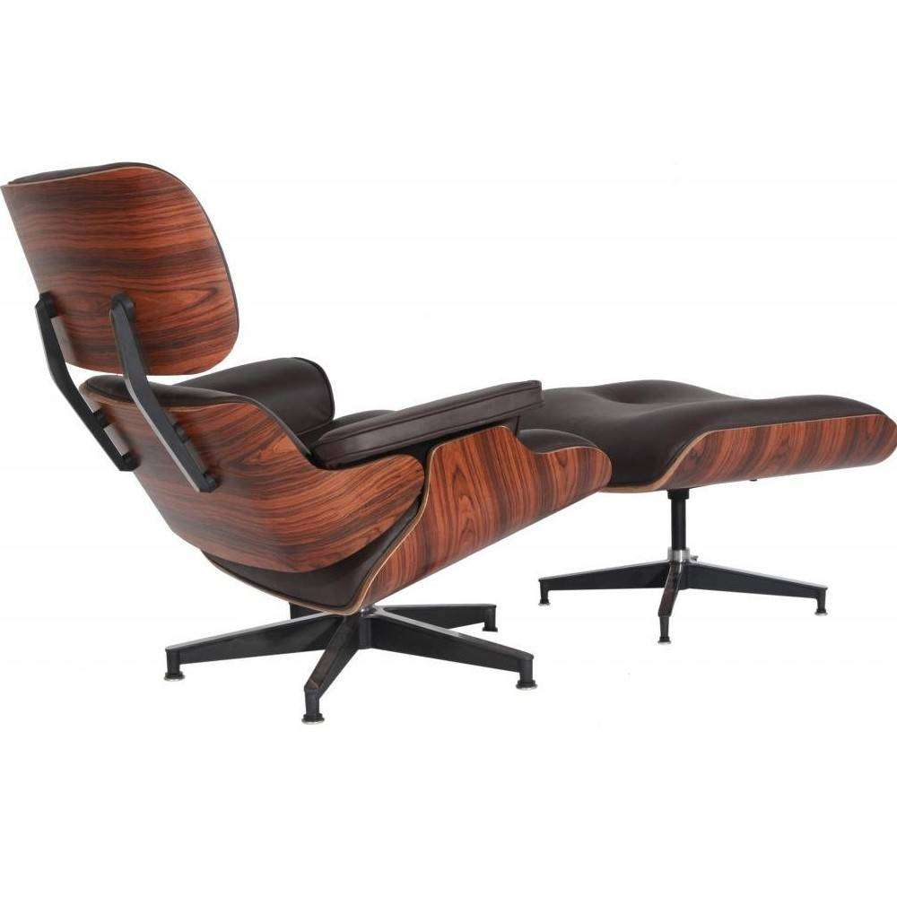Mod Lounge Chair Amp Ottoman Brown Palisander