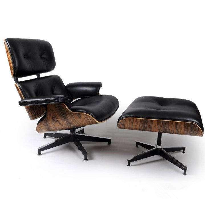 mod lounge chair ottoman black palisander