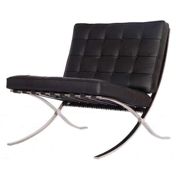 Pavilion Barcelona Style Chair Black Modterior