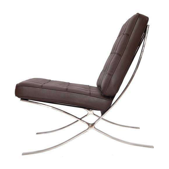 Pavilion Barcelona Style Chair Brown Modterior