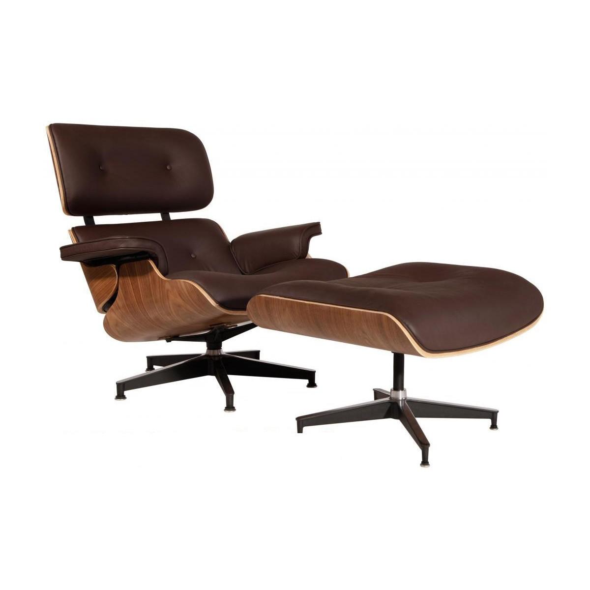 Mod Lounge Chair Amp Ottoman Brown Walnut