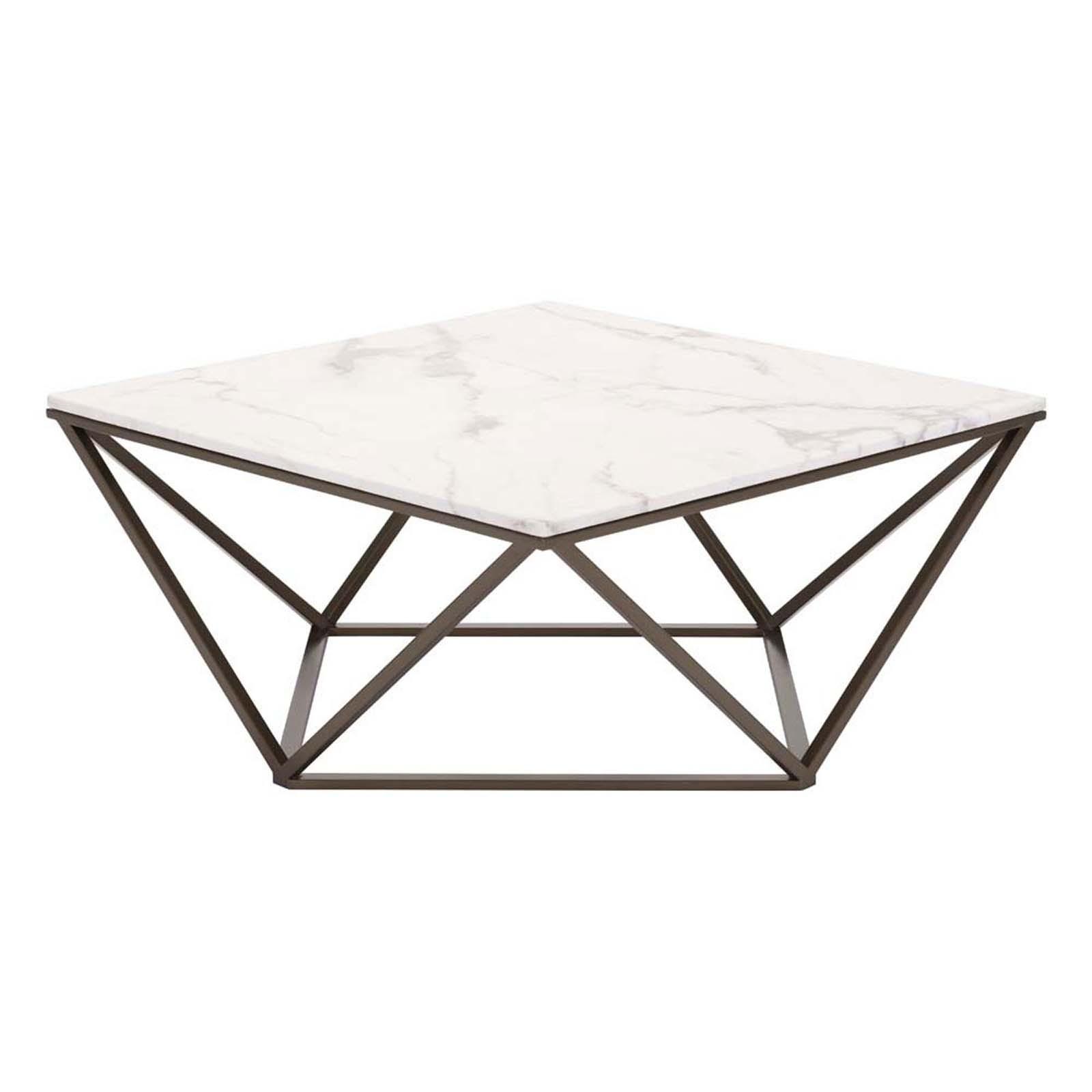 Tintern Coffee Table Stone & Antique Brass
