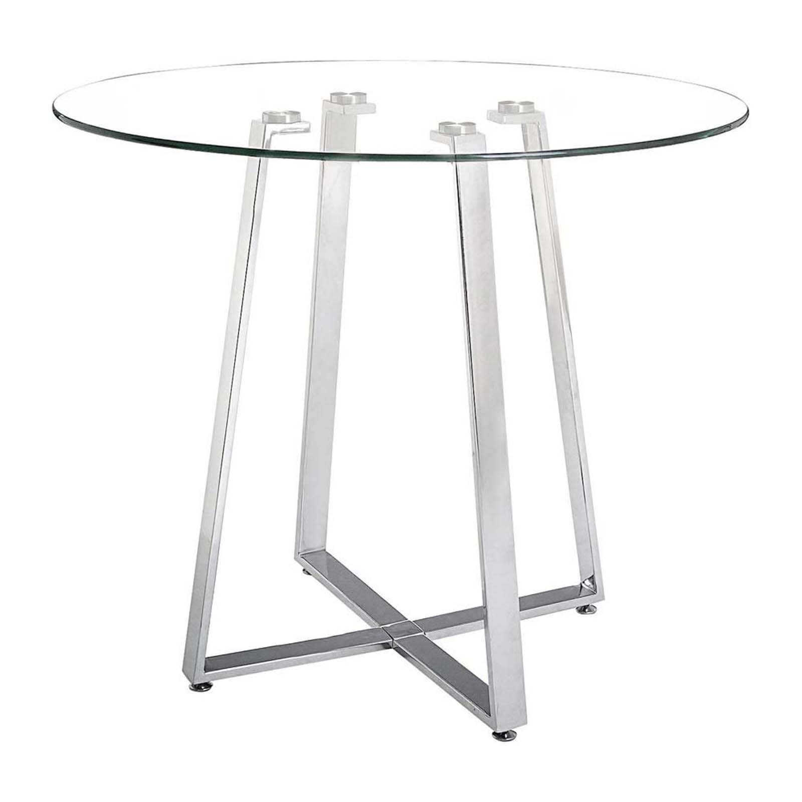 Lemon Drop Counter Table Chrome