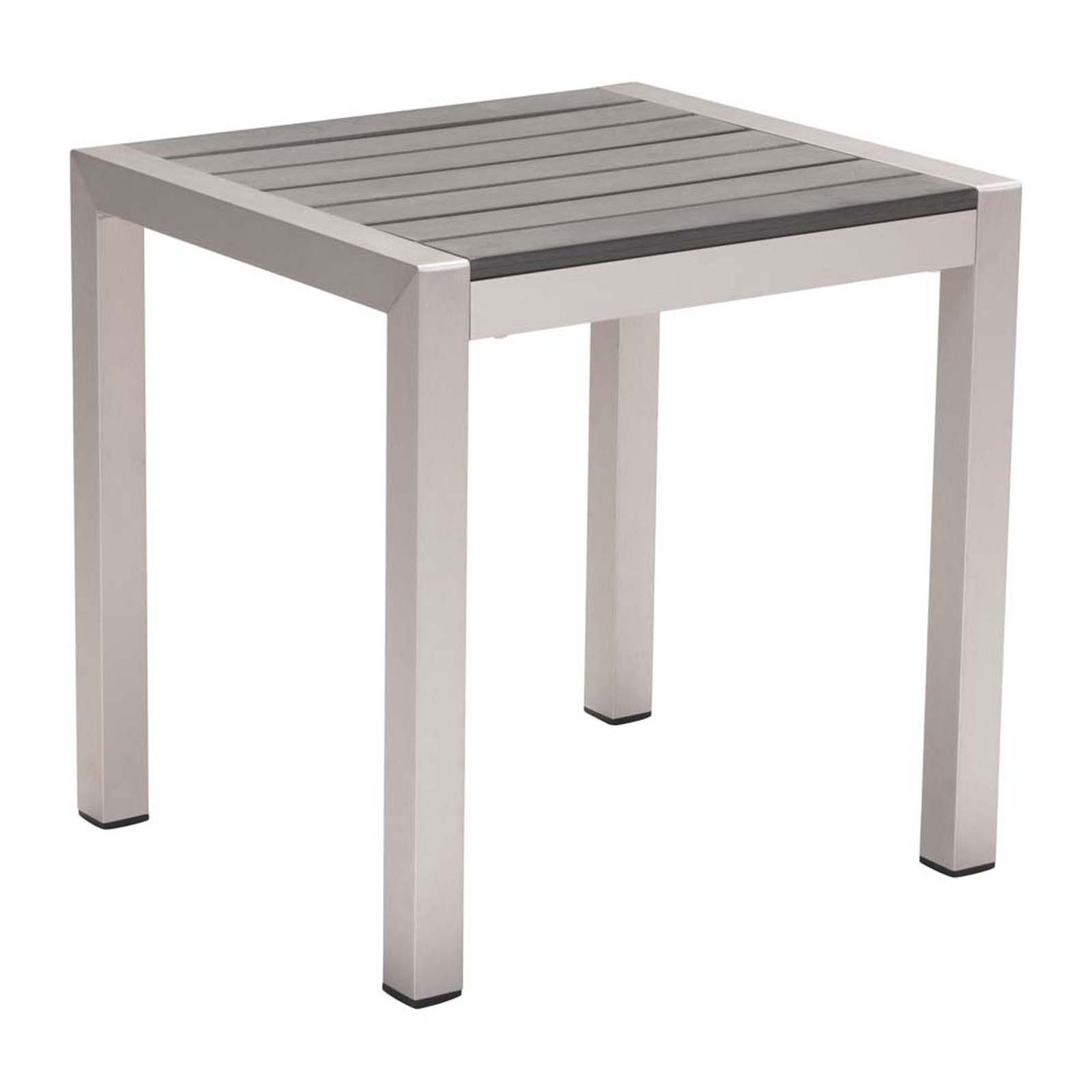 Cosmopolitan Side Table Brushed Aluminum